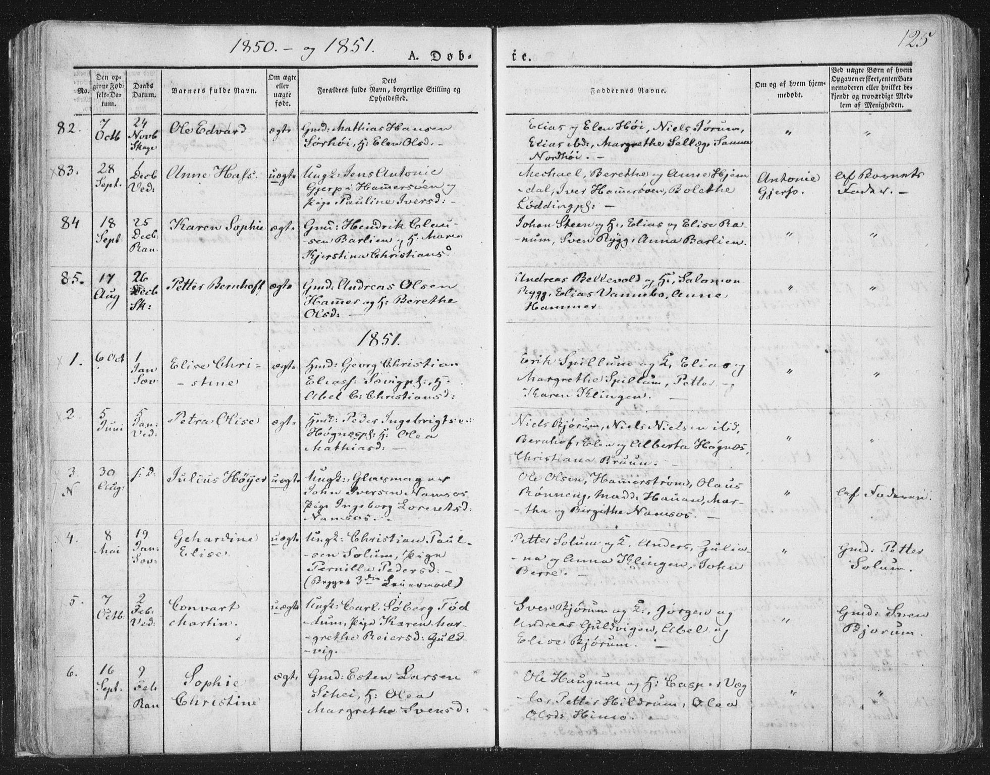 SAT, Ministerialprotokoller, klokkerbøker og fødselsregistre - Nord-Trøndelag, 764/L0551: Ministerialbok nr. 764A07a, 1824-1864, s. 125