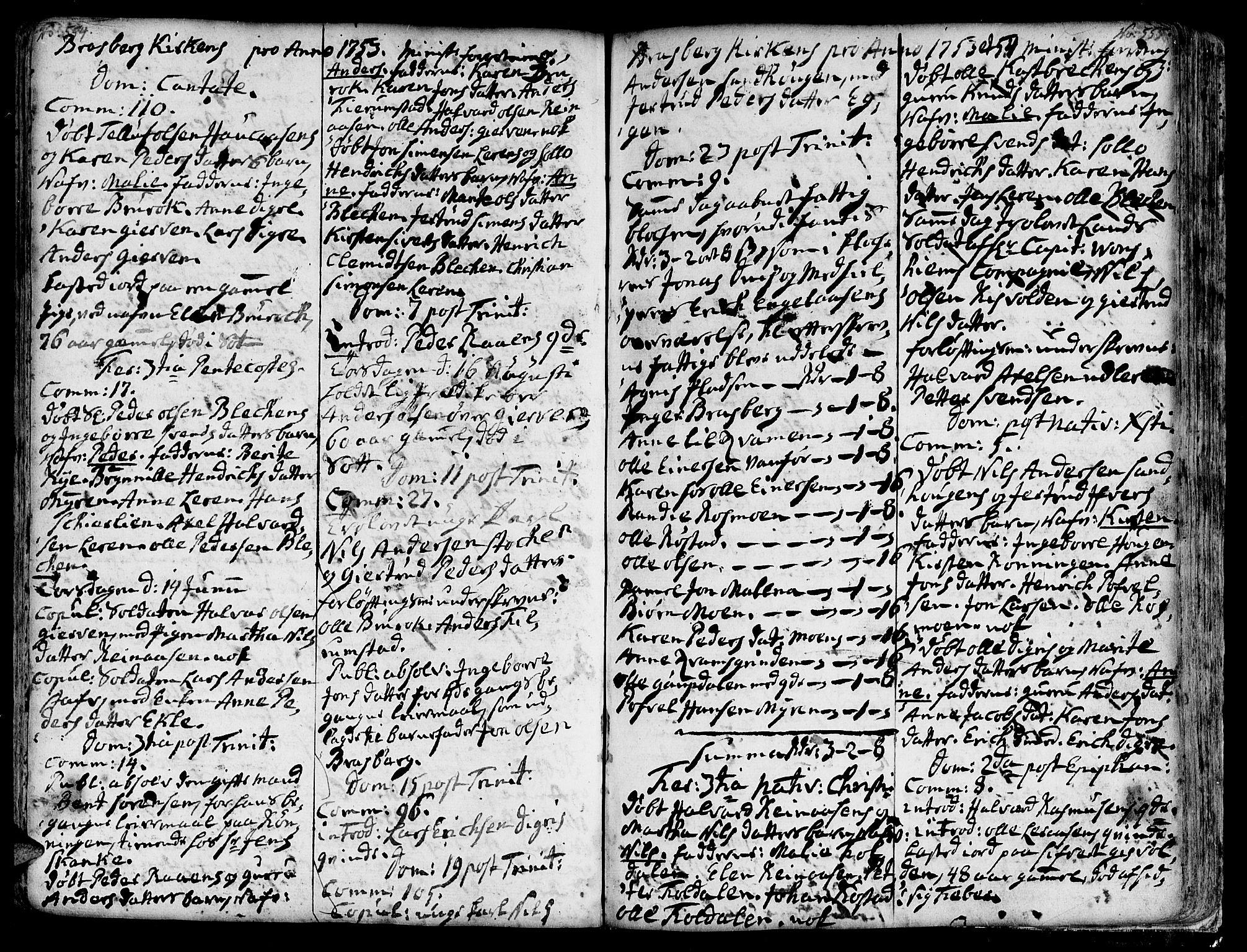 SAT, Ministerialprotokoller, klokkerbøker og fødselsregistre - Sør-Trøndelag, 606/L0278: Ministerialbok nr. 606A01 /4, 1727-1780, s. 554-555