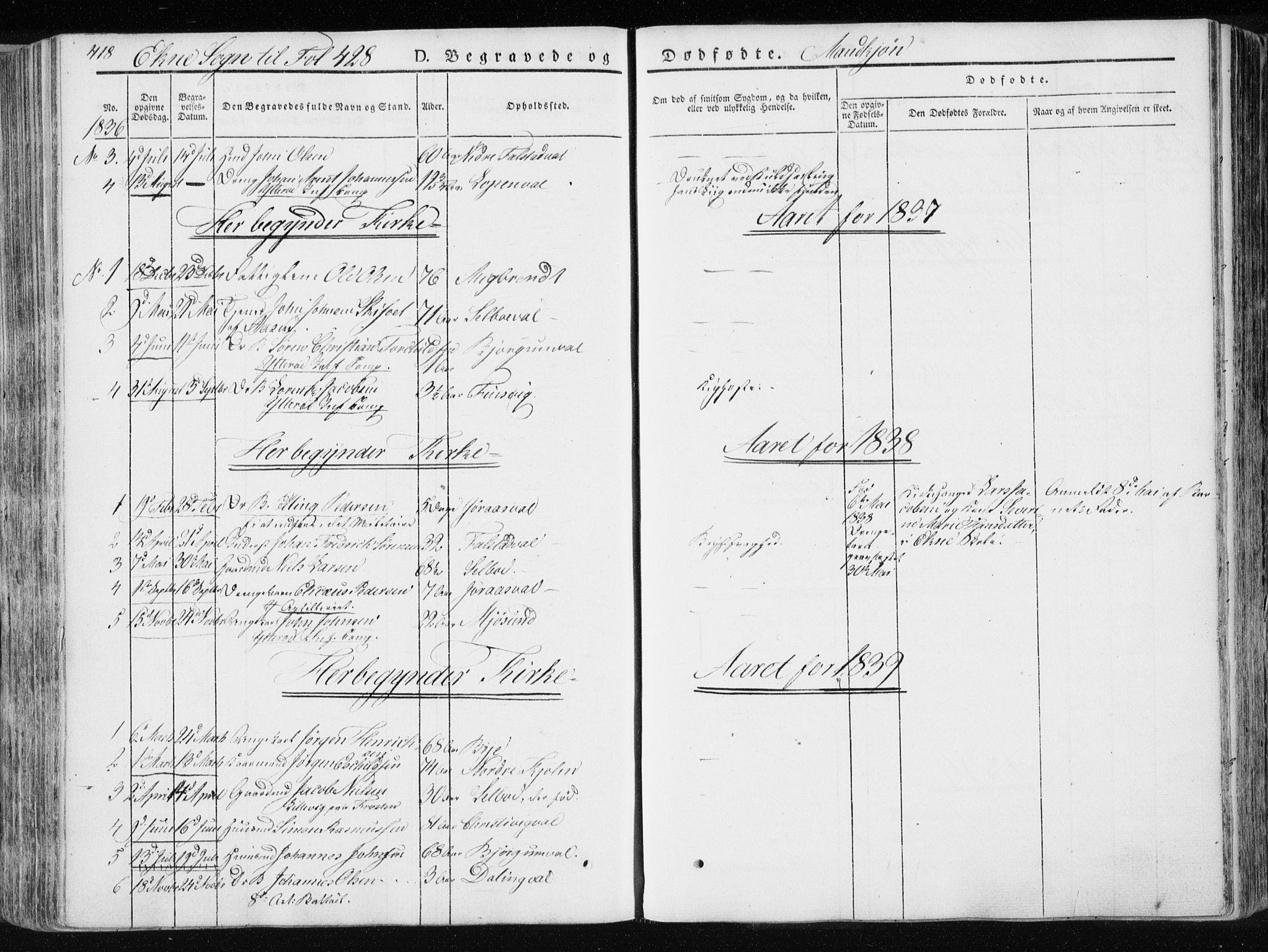 SAT, Ministerialprotokoller, klokkerbøker og fødselsregistre - Nord-Trøndelag, 717/L0154: Ministerialbok nr. 717A06 /2, 1836-1849, s. 418