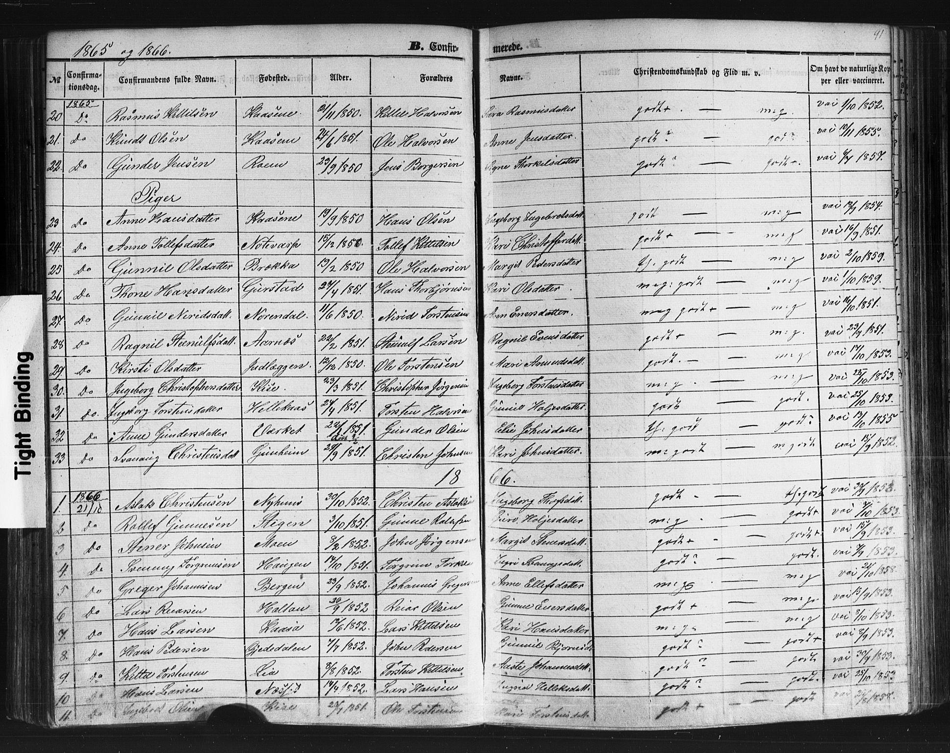 SAKO, Sauherad kirkebøker, F/Fb/L0001: Ministerialbok nr. II 1, 1851-1877, s. 91