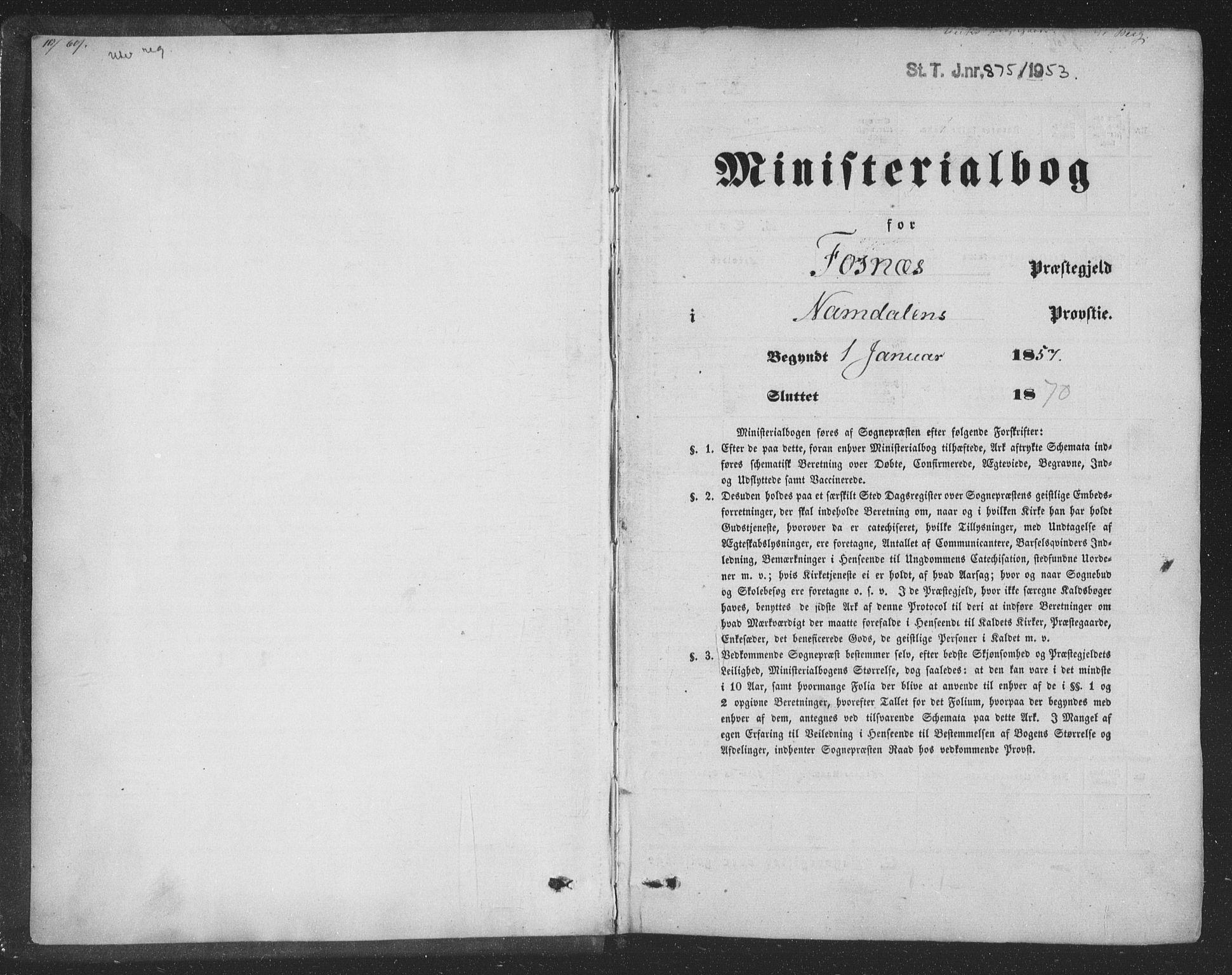 SAT, Ministerialprotokoller, klokkerbøker og fødselsregistre - Nord-Trøndelag, 773/L0615: Ministerialbok nr. 773A06, 1857-1870