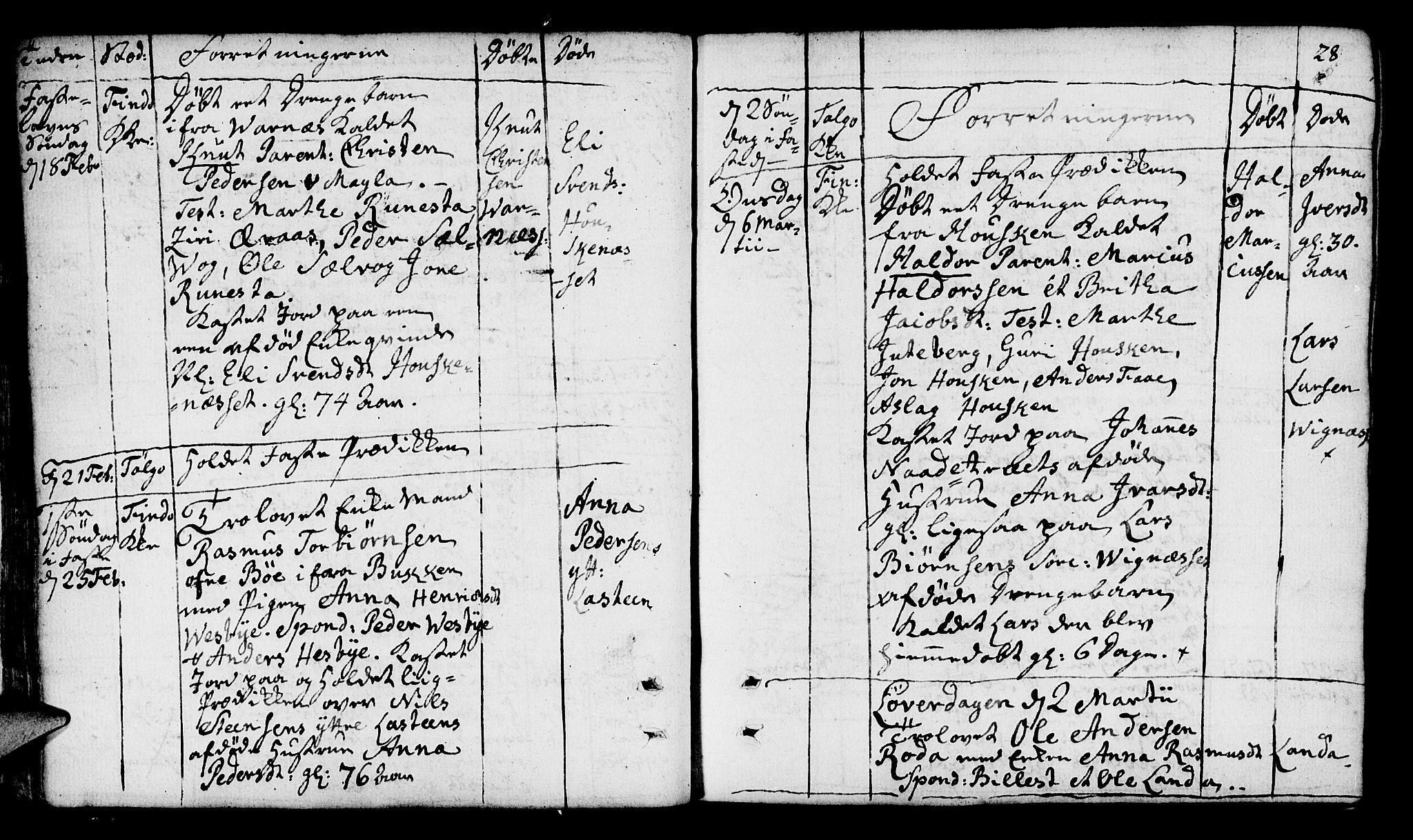 SAST, Finnøy sokneprestkontor, H/Ha/Haa/L0005: Ministerialbok nr. A 5, 1773-1816, s. 28