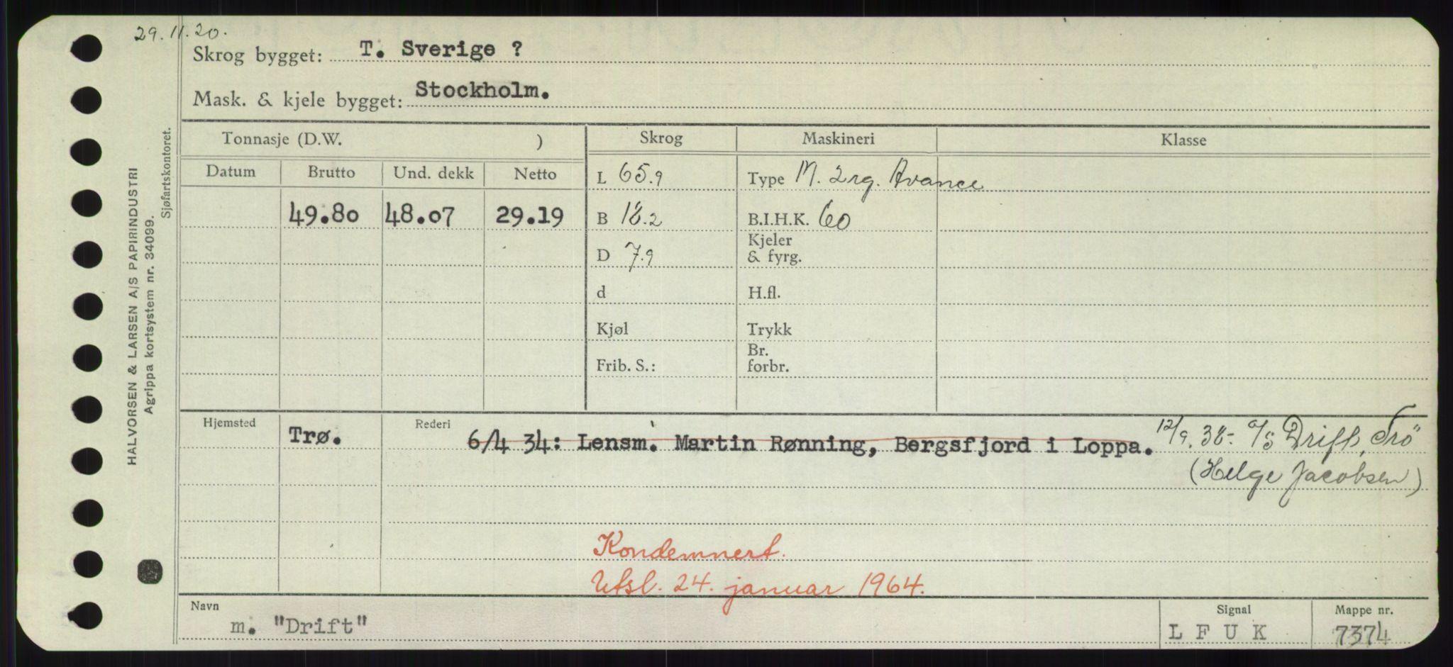RA, Sjøfartsdirektoratet med forløpere, Skipsmålingen, H/Hd/L0008: Fartøy, C-D, s. 637