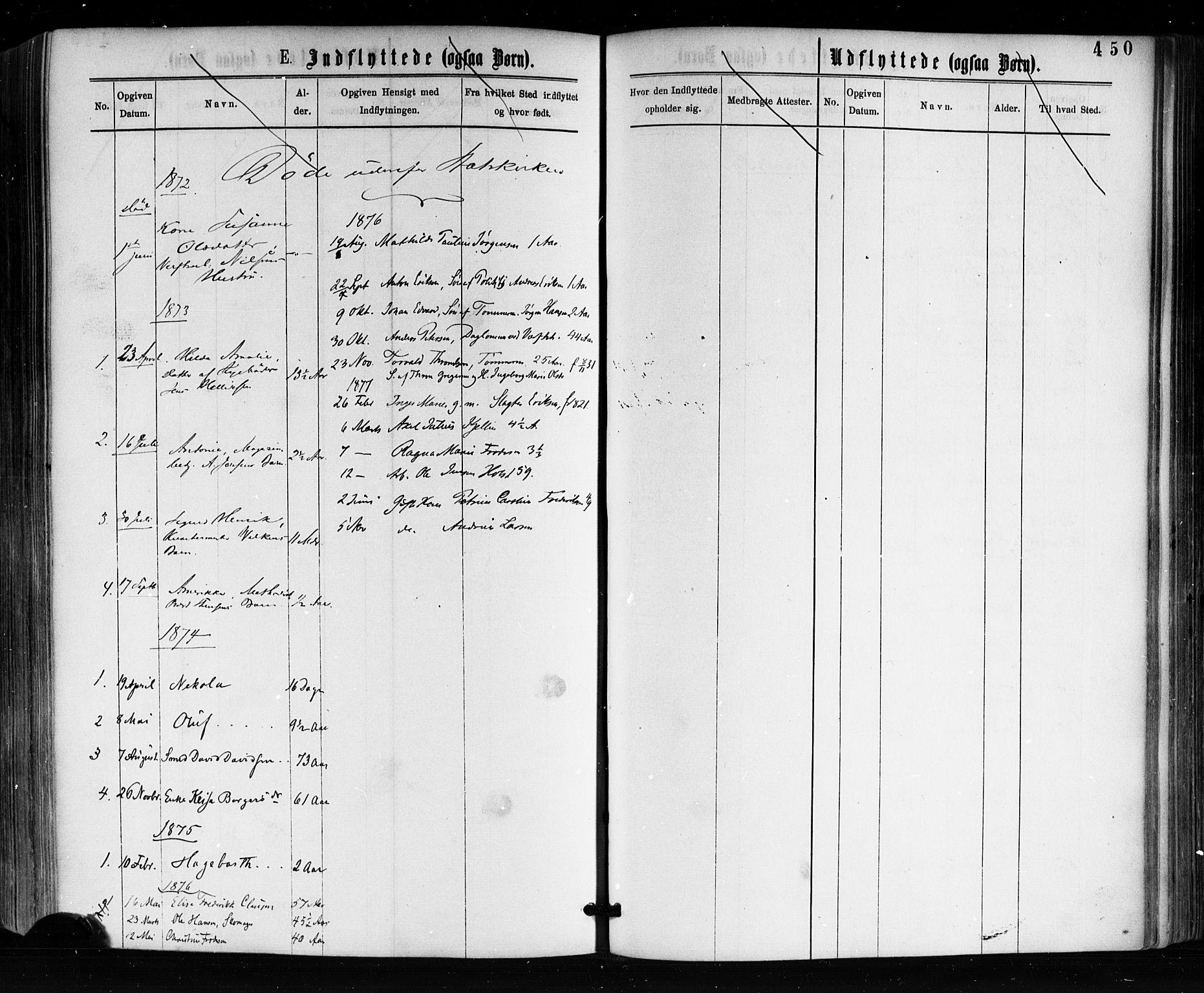 SAKO, Horten kirkebøker, F/Fa/L0002: Ministerialbok nr. 2, 1872-1877, s. 450