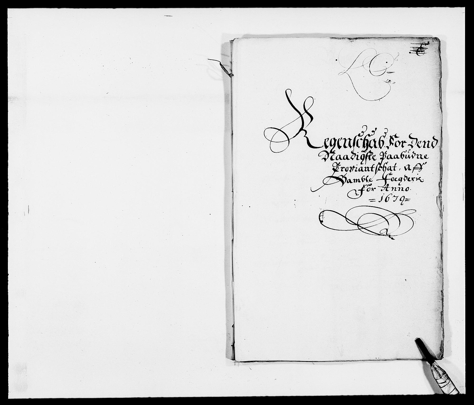 RA, Rentekammeret inntil 1814, Reviderte regnskaper, Fogderegnskap, R34/L2044: Fogderegnskap Bamble, 1678-1679, s. 347
