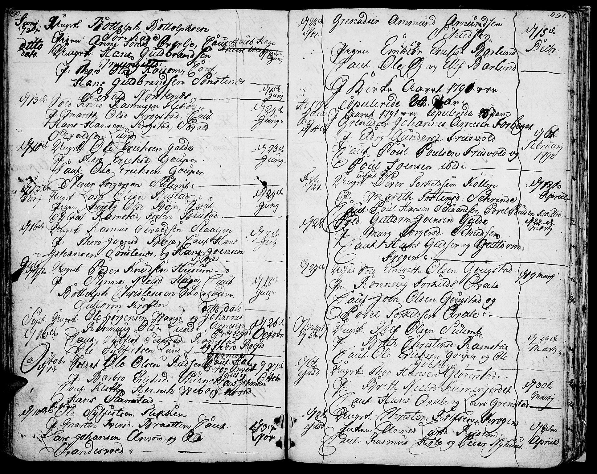 SAH, Lom prestekontor, K/L0002: Ministerialbok nr. 2, 1749-1801, s. 490-491