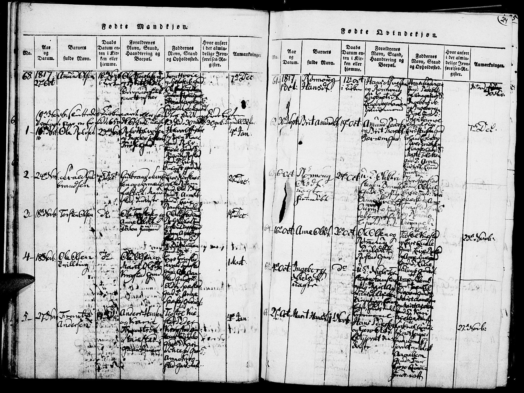 SAH, Lom prestekontor, K/L0004: Ministerialbok nr. 4, 1815-1825, s. 24