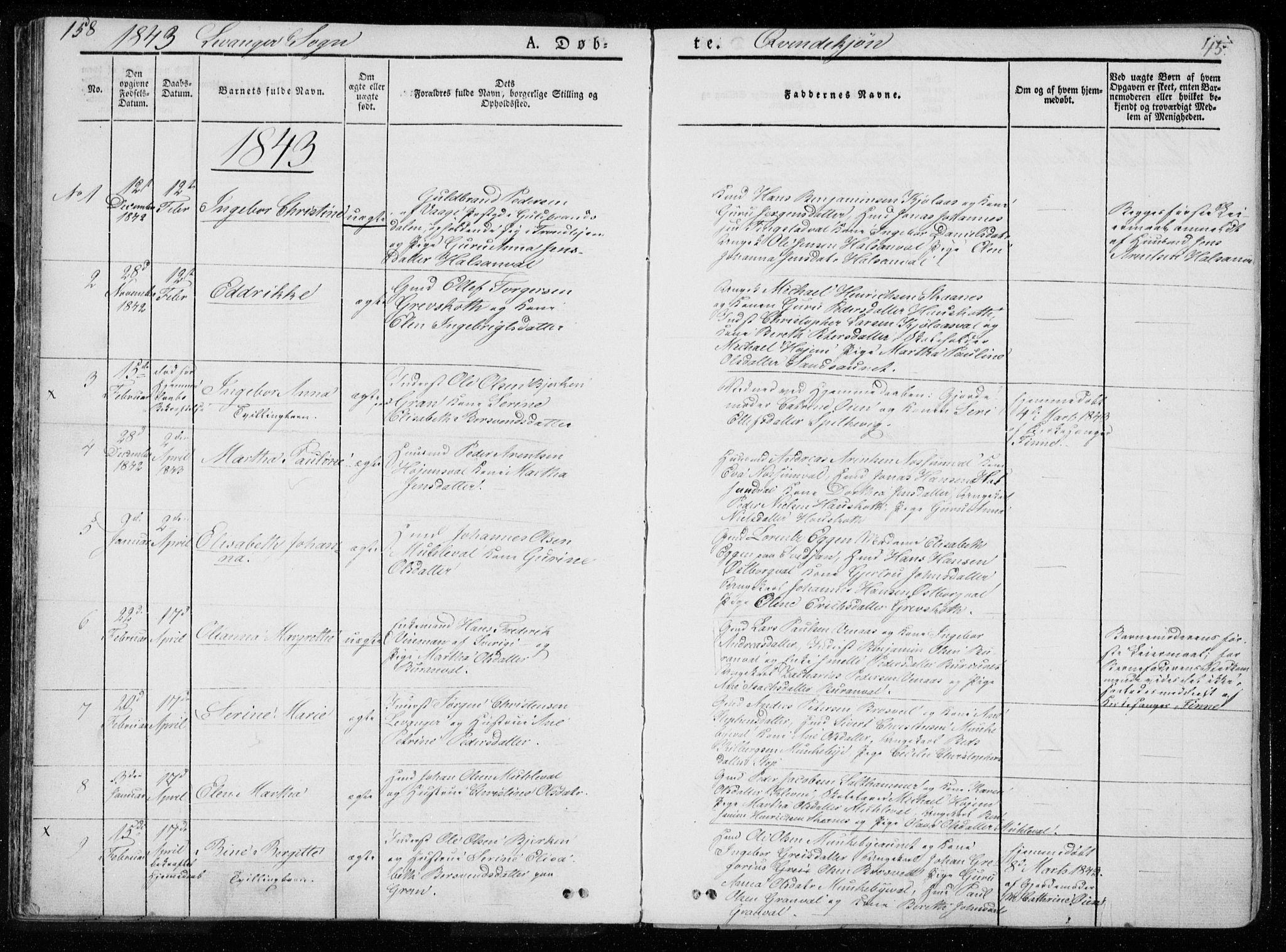 SAT, Ministerialprotokoller, klokkerbøker og fødselsregistre - Nord-Trøndelag, 720/L0183: Ministerialbok nr. 720A01, 1836-1855, s. 45