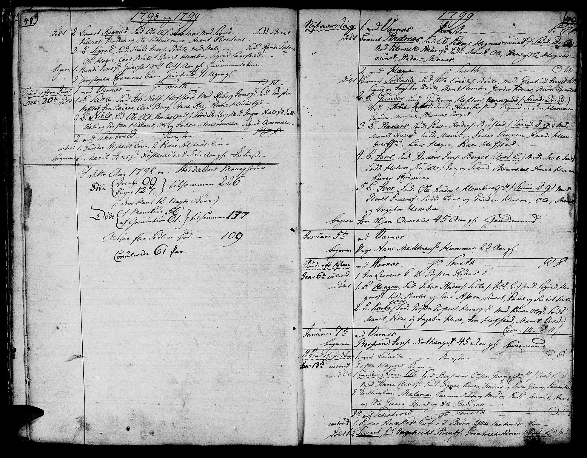 SAT, Ministerialprotokoller, klokkerbøker og fødselsregistre - Nord-Trøndelag, 709/L0060: Ministerialbok nr. 709A07, 1797-1815, s. 48-49