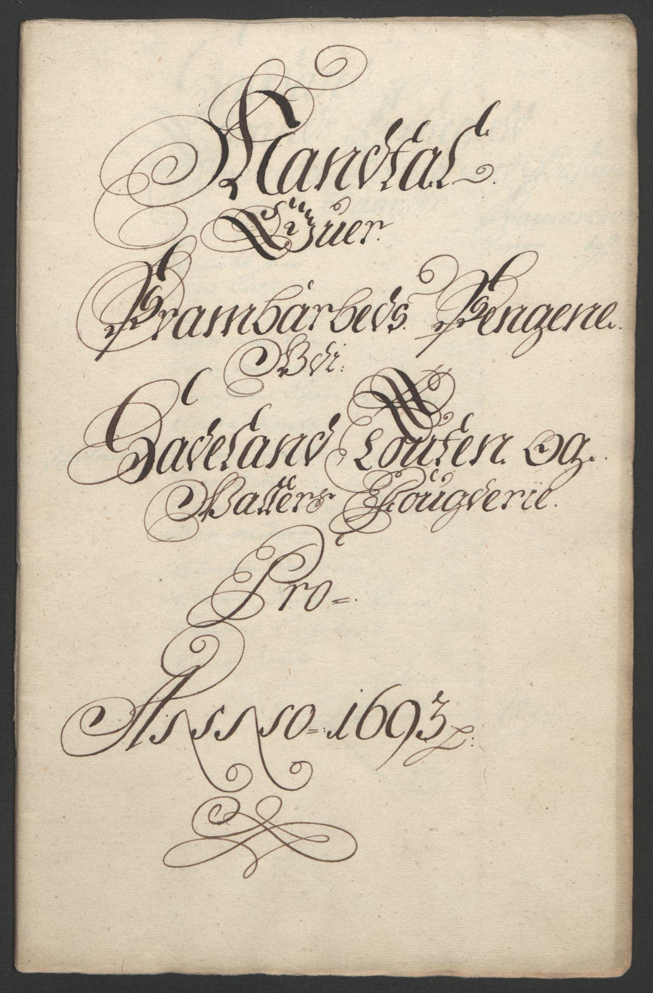 RA, Rentekammeret inntil 1814, Reviderte regnskaper, Fogderegnskap, R18/L1292: Fogderegnskap Hadeland, Toten og Valdres, 1693-1694, s. 108