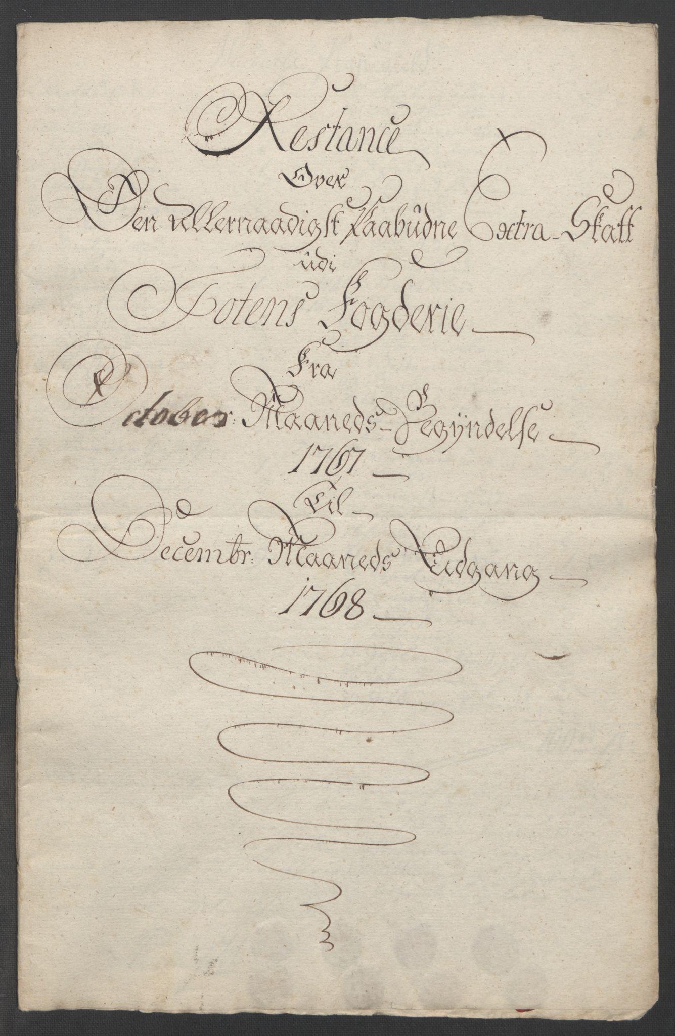 RA, Rentekammeret inntil 1814, Reviderte regnskaper, Fogderegnskap, R19/L1399: Fogderegnskap Toten, Hadeland og Vardal, 1762-1783, s. 176