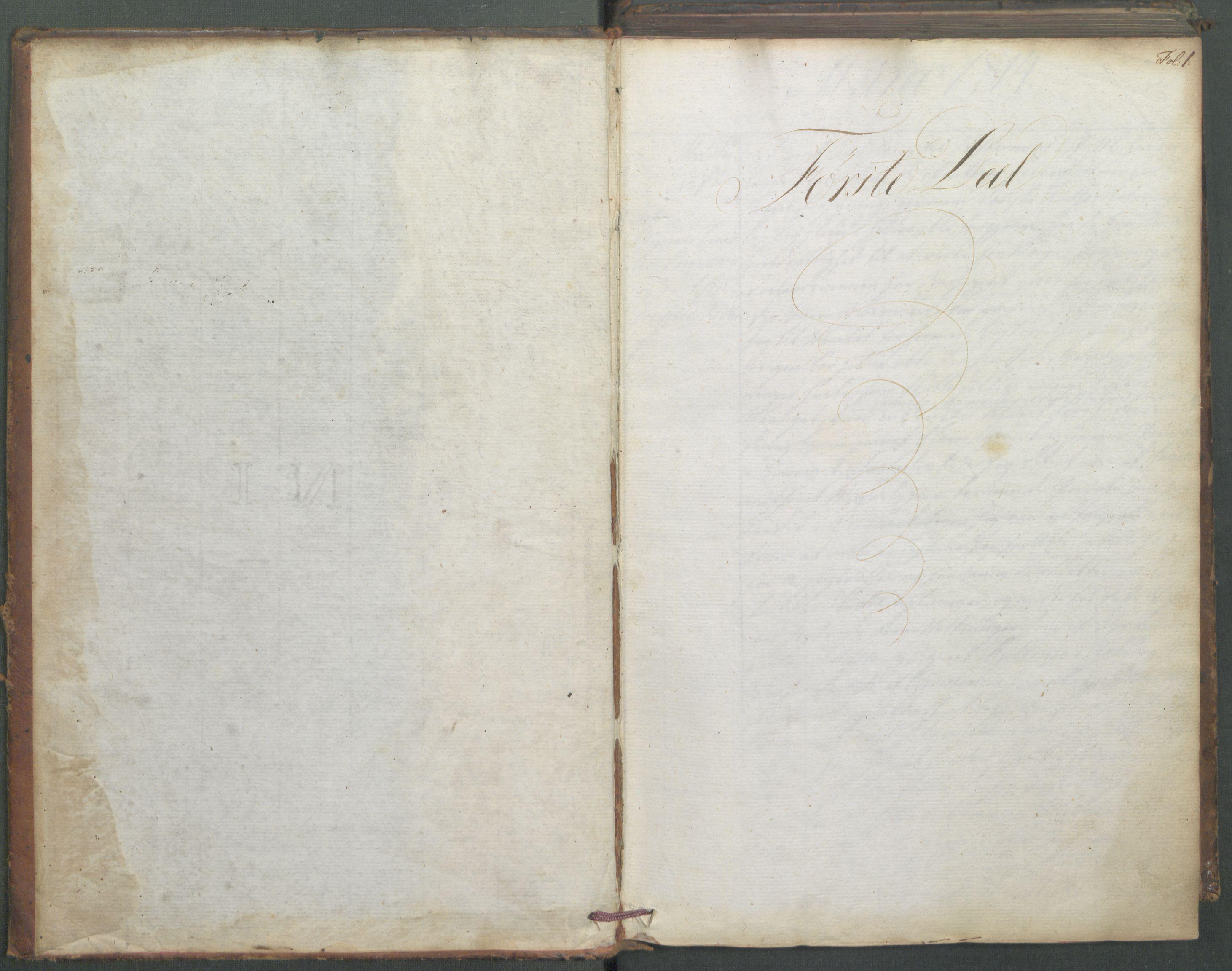 RA, Departementene i 1814, Fd/L0045: Kopibok, 1814, s. 1a