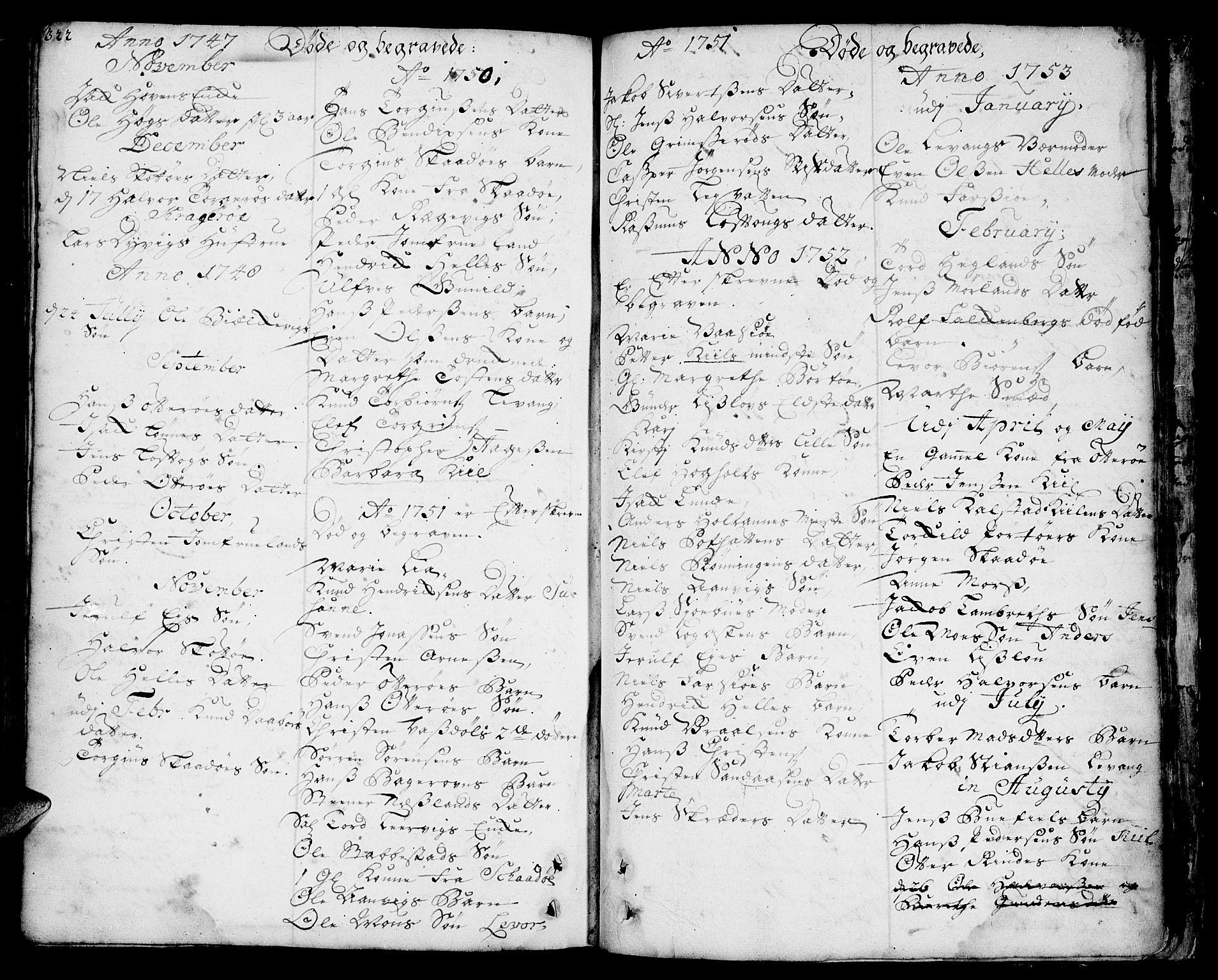 SAKO, Sannidal kirkebøker, F/Fa/L0001: Ministerialbok nr. 1, 1702-1766, s. 322-323