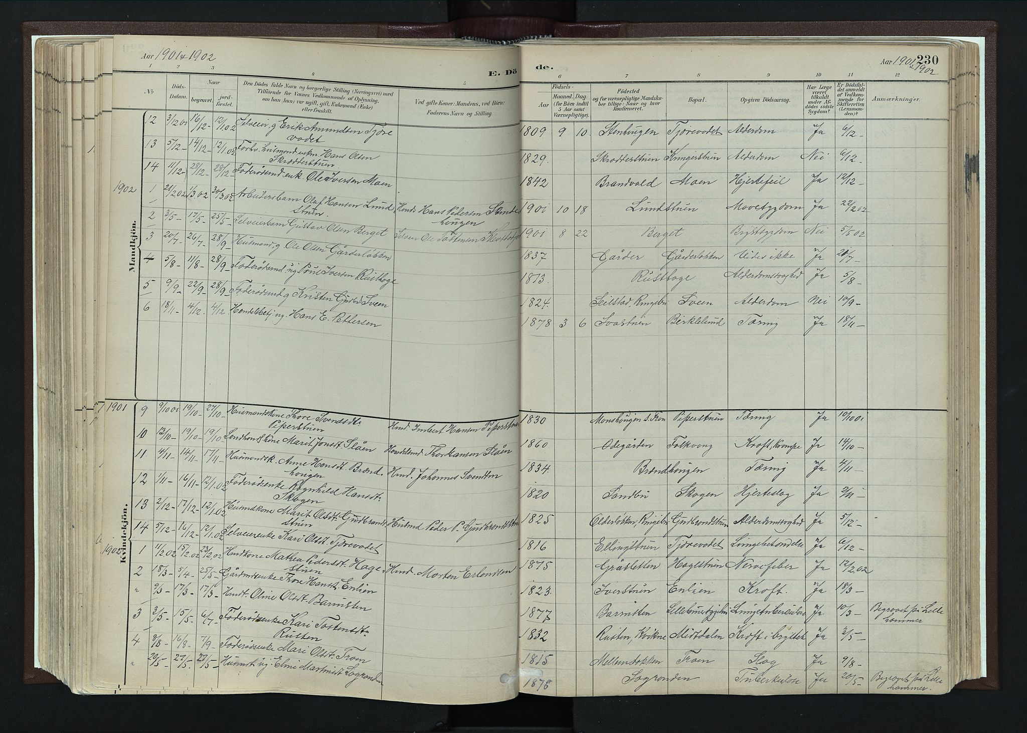 SAH, Nord-Fron prestekontor, Ministerialbok nr. 4, 1884-1914, s. 230