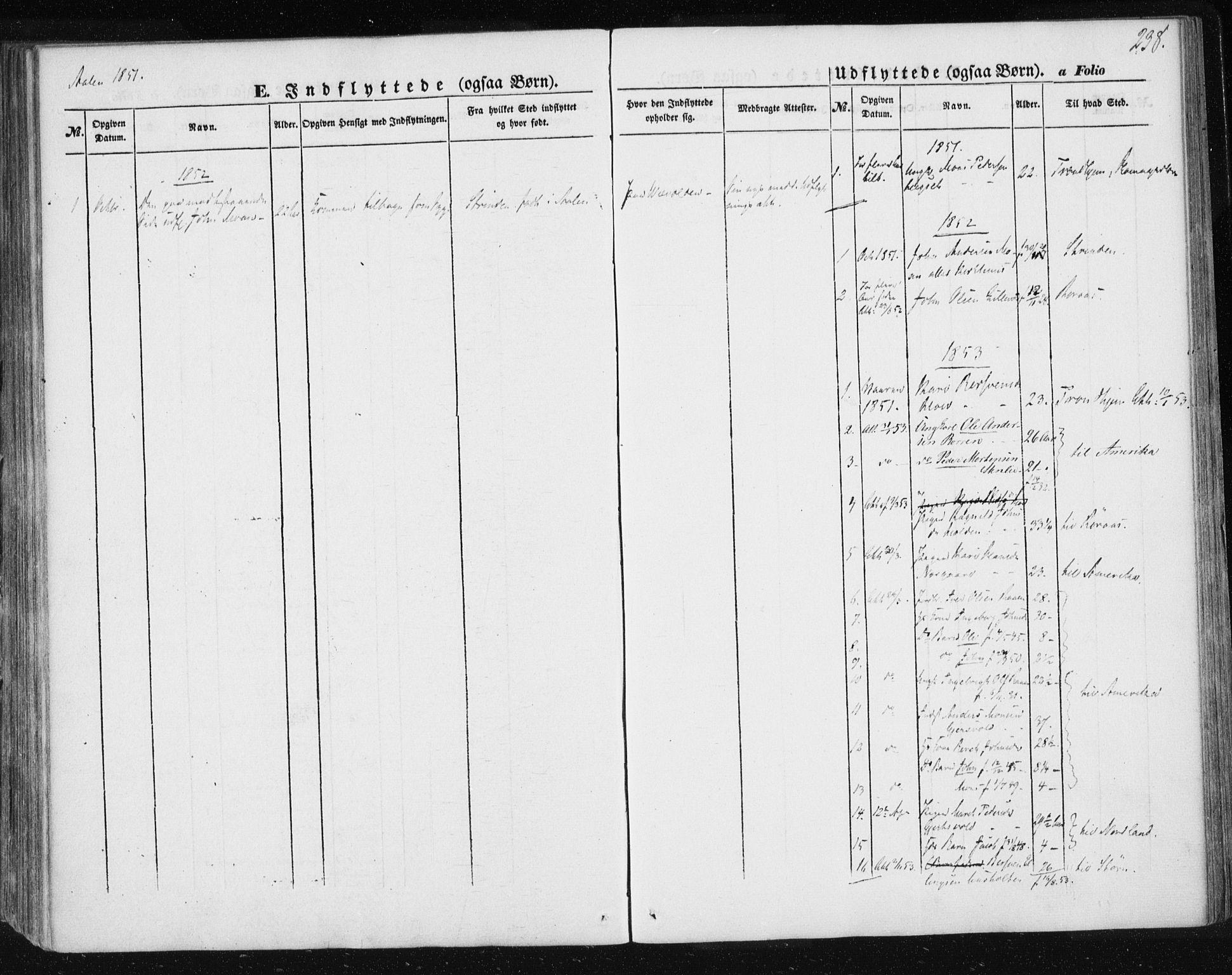 SAT, Ministerialprotokoller, klokkerbøker og fødselsregistre - Sør-Trøndelag, 685/L0965: Ministerialbok nr. 685A06 /3, 1846-1859, s. 238