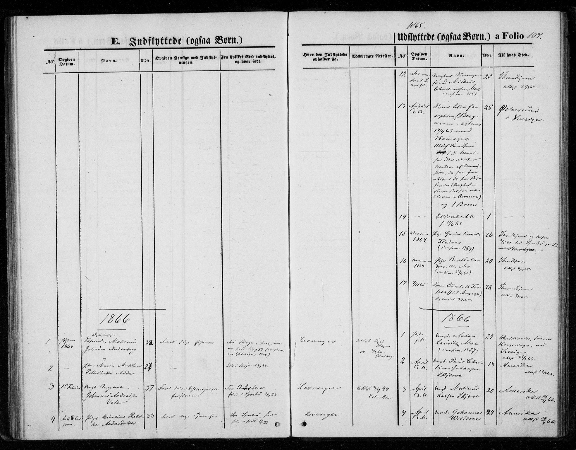 SAT, Ministerialprotokoller, klokkerbøker og fødselsregistre - Nord-Trøndelag, 720/L0186: Ministerialbok nr. 720A03, 1864-1874, s. 107
