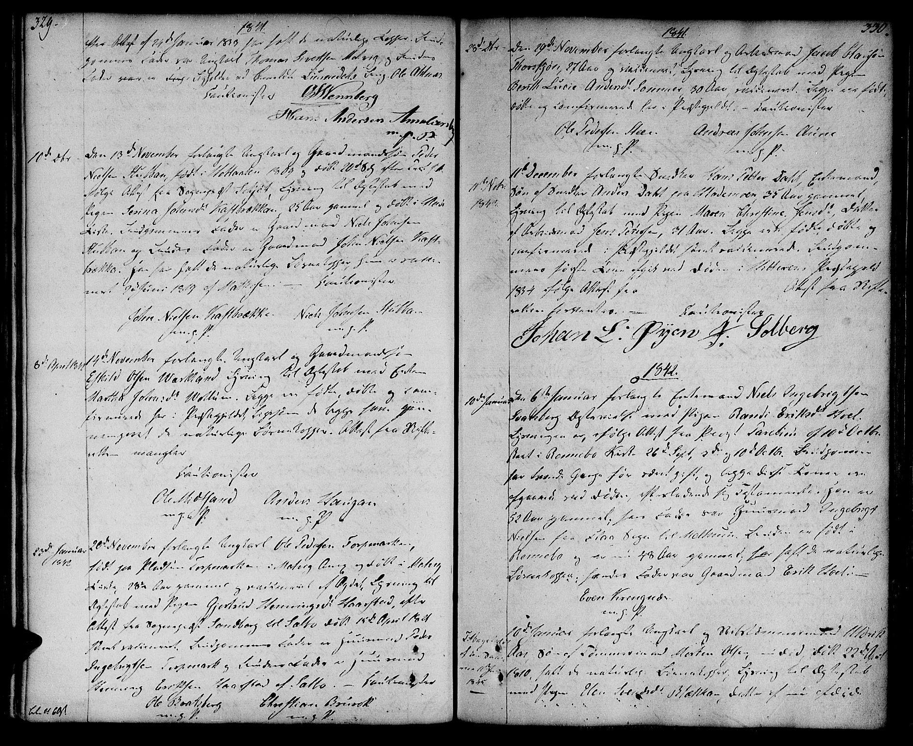 SAT, Ministerialprotokoller, klokkerbøker og fødselsregistre - Sør-Trøndelag, 604/L0181: Ministerialbok nr. 604A02, 1798-1817, s. 329-330