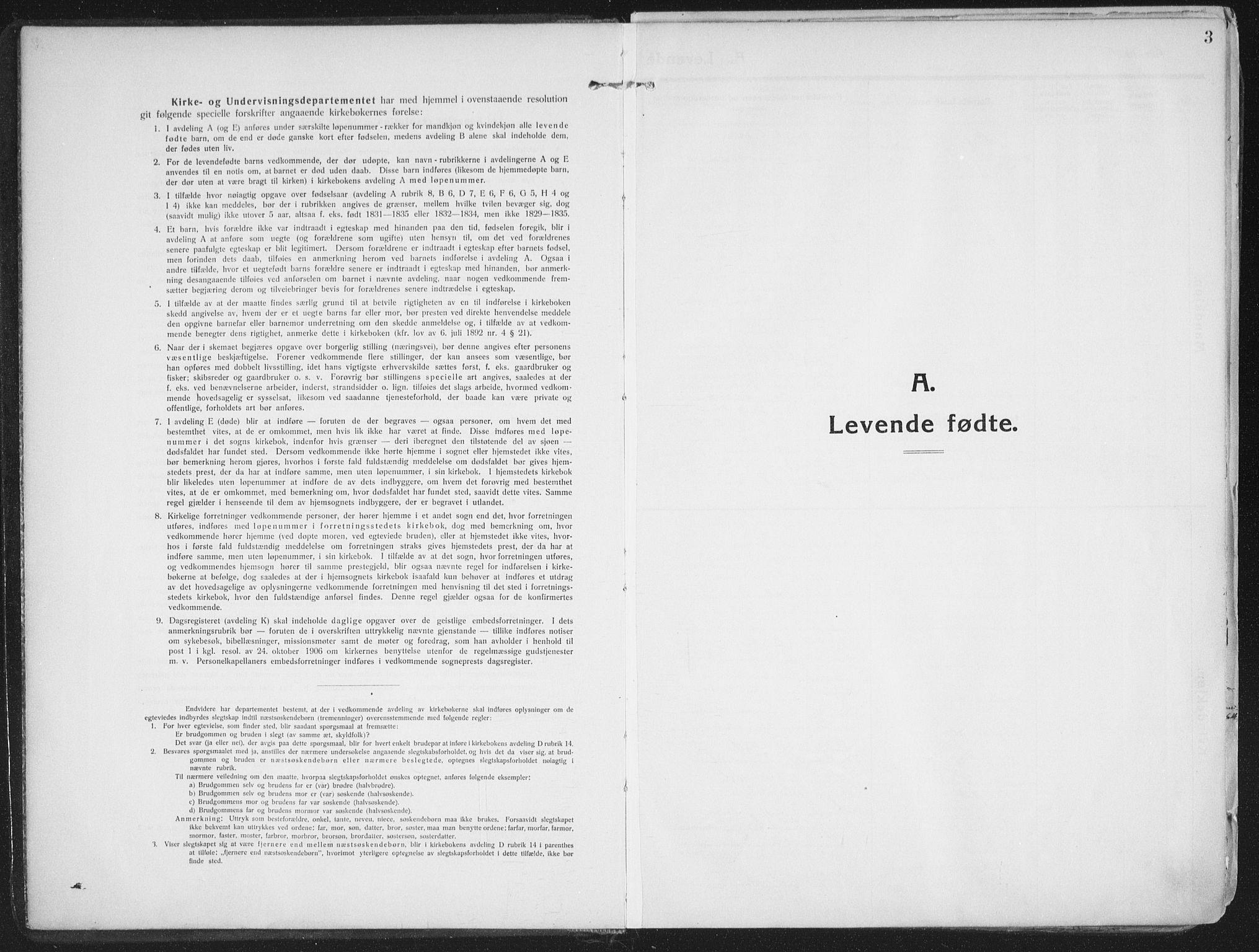 SATØ, Lenvik sokneprestembete, H/Ha: Ministerialbok nr. 16, 1910-1924, s. 3