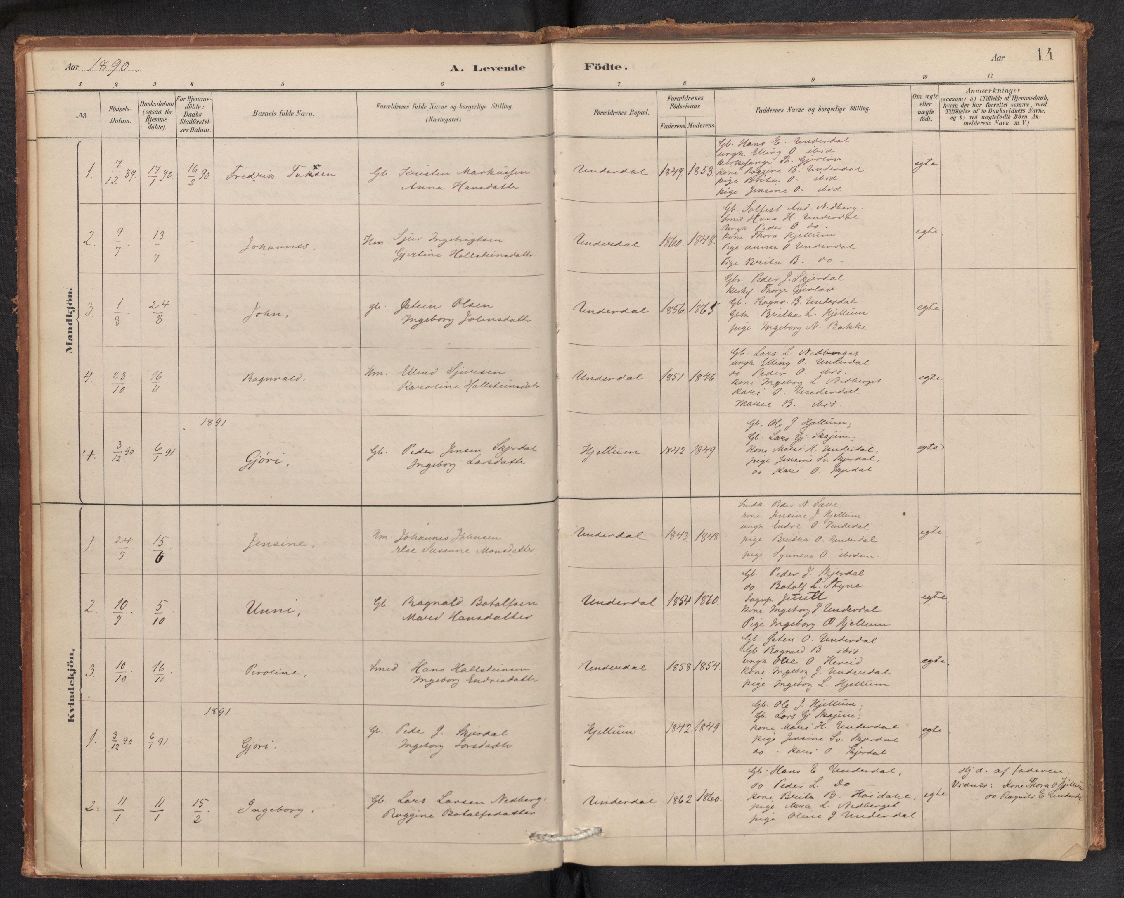 SAB, Aurland Sokneprestembete*, Ministerialbok nr. E 1, 1880-1907, s. 13b-14a