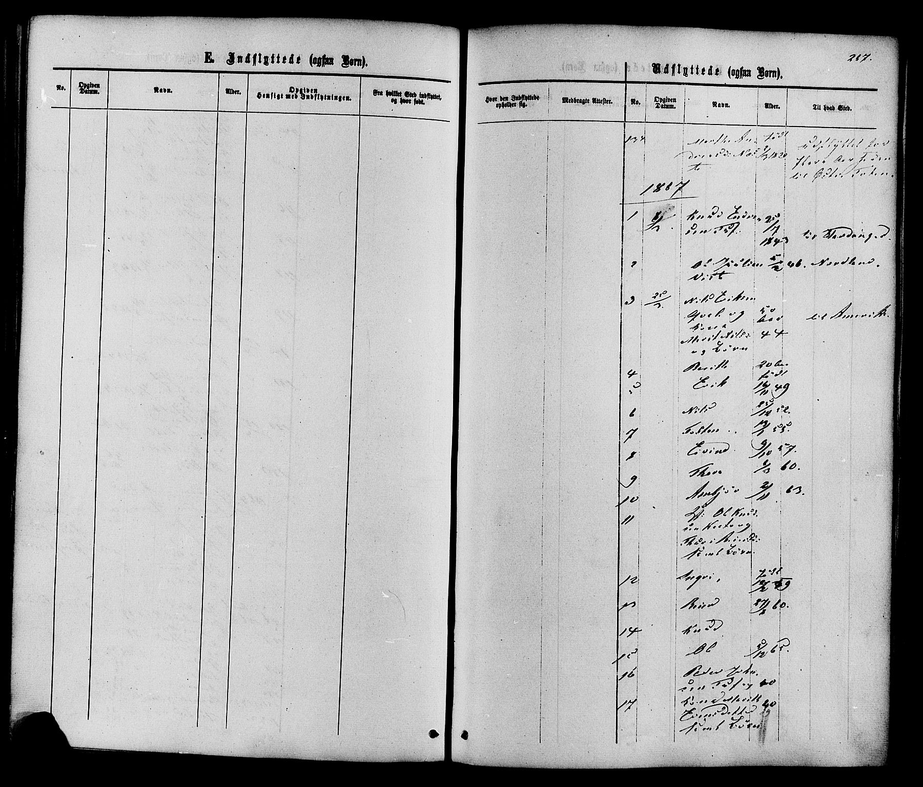 SAH, Vestre Slidre prestekontor, Ministerialbok nr. 3, 1865-1880, s. 267