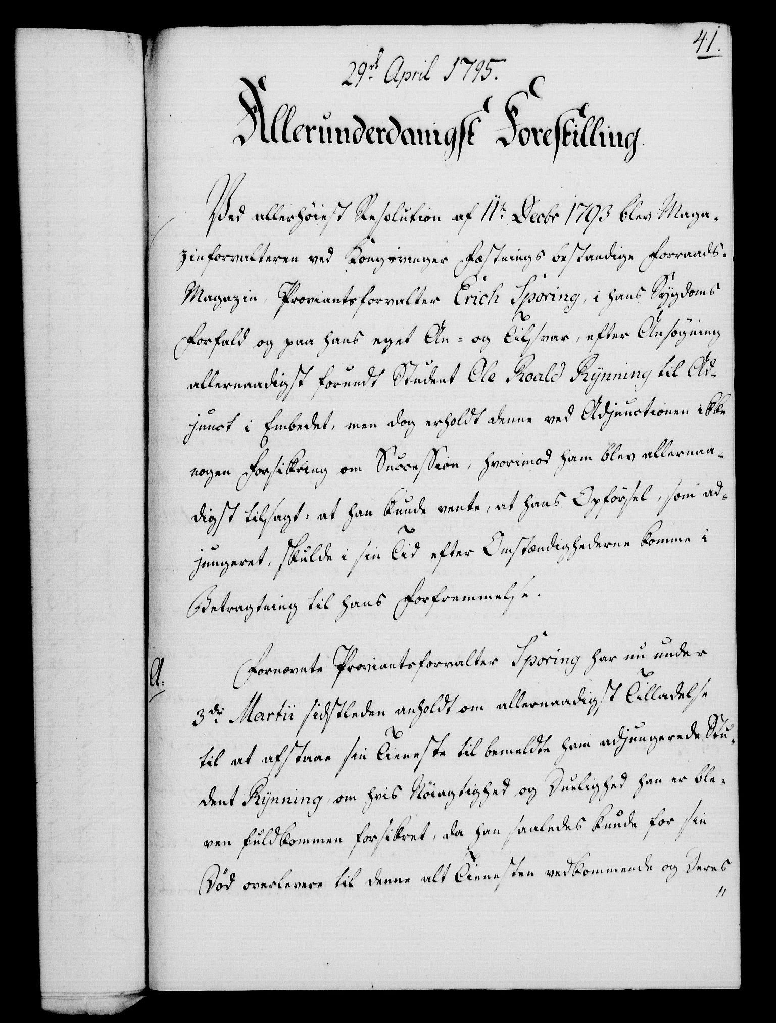 RA, Rentekammeret, Kammerkanselliet, G/Gf/Gfa/L0077: Norsk relasjons- og resolusjonsprotokoll (merket RK 52.77), 1795, s. 228