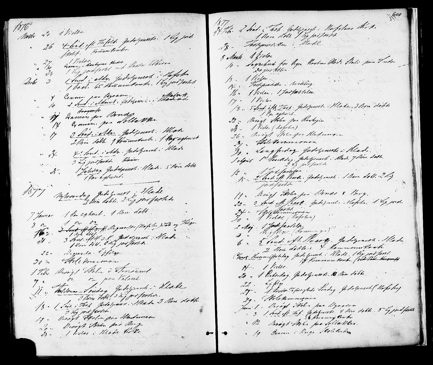 SAT, Ministerialprotokoller, klokkerbøker og fødselsregistre - Sør-Trøndelag, 606/L0293: Ministerialbok nr. 606A08, 1866-1877, s. 600