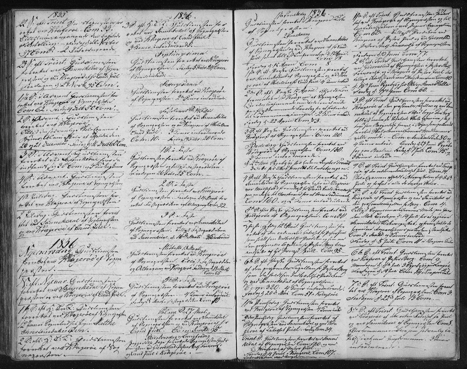 SAKO, Kragerø kirkebøker, F/Fa/L0005: Ministerialbok nr. 5, 1832-1847, s. 271