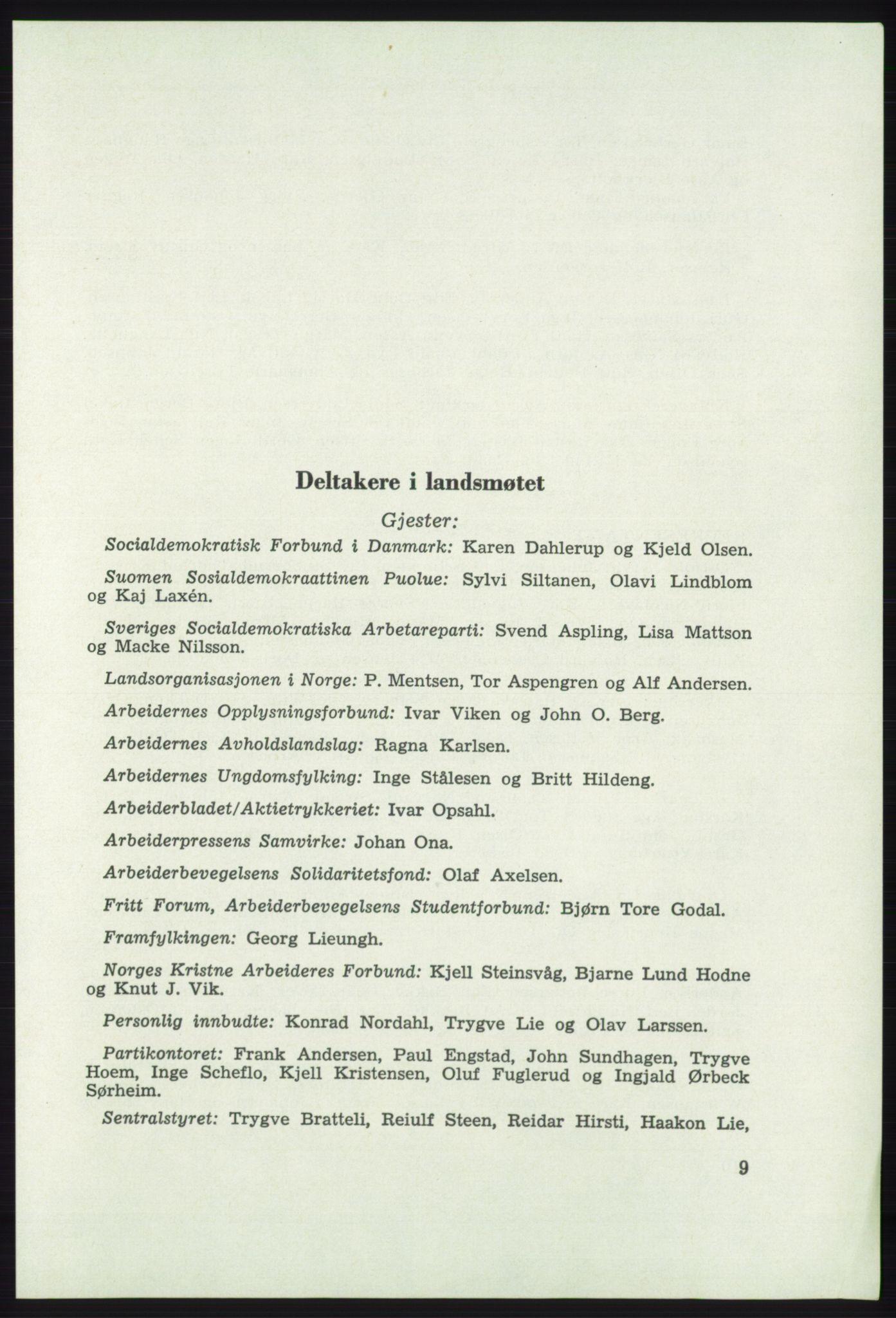 AAB, Det norske Arbeiderparti - publikasjoner, -/-: Protokoll over forhandlingene på det 41. ordinære landsmøte 21.-23. mai 1967 i Oslo, 1967, s. 9