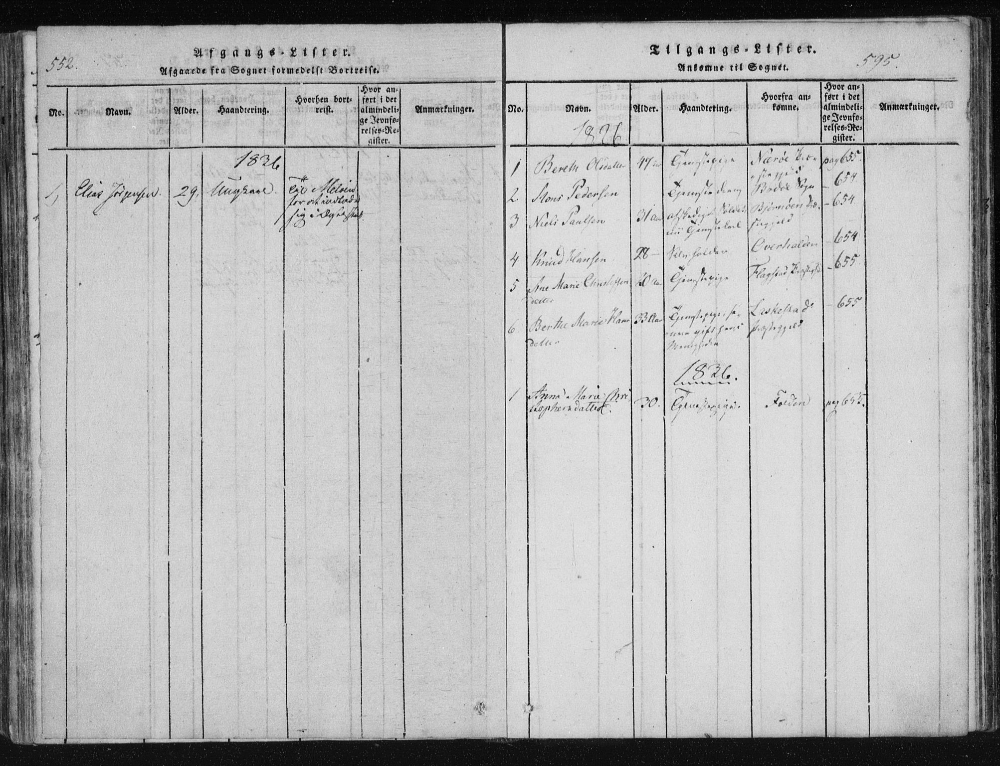 SAT, Ministerialprotokoller, klokkerbøker og fødselsregistre - Nordland, 805/L0096: Ministerialbok nr. 805A03, 1820-1837, s. 594-595