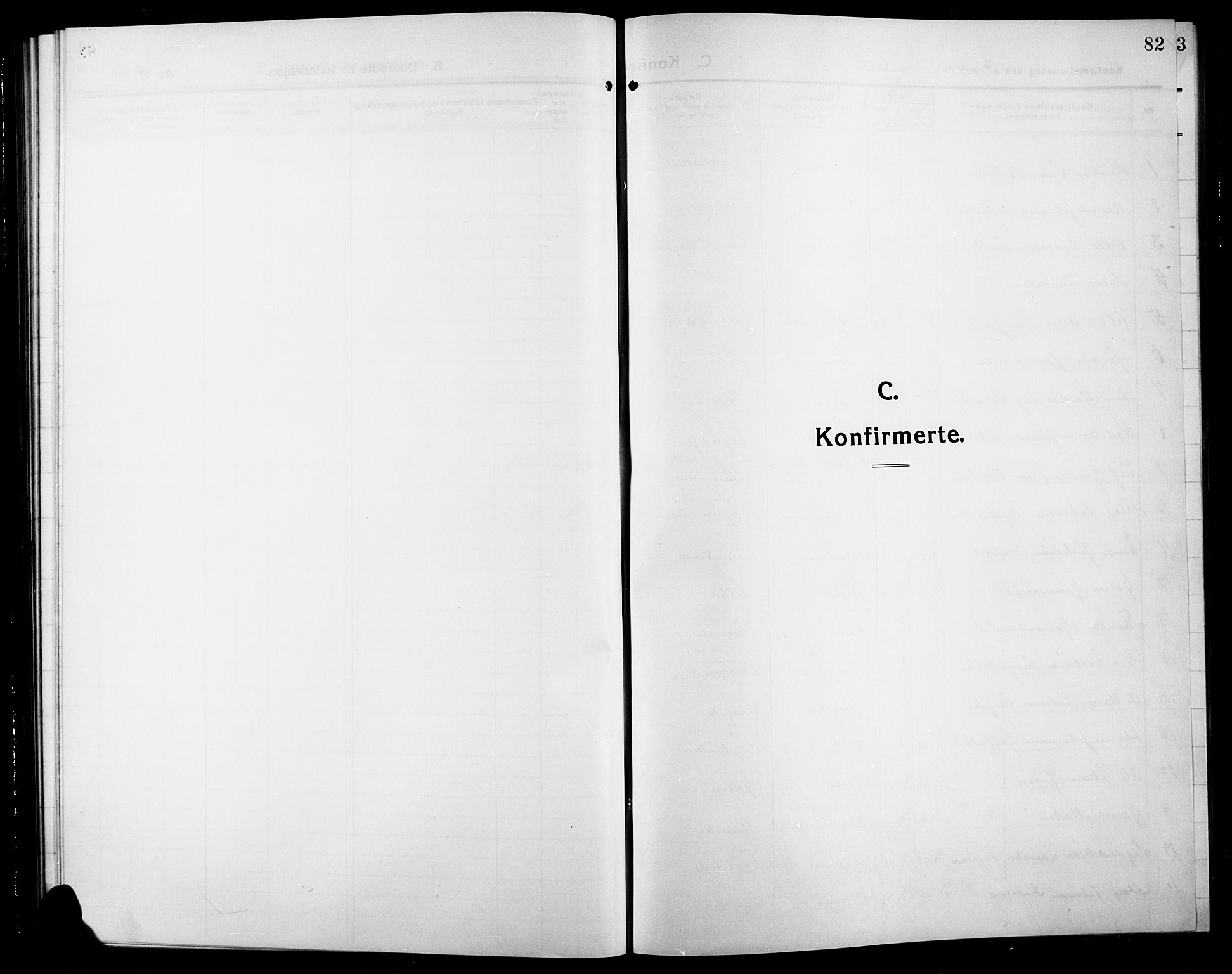 SAH, Søndre Land prestekontor, L/L0006: Klokkerbok nr. 6, 1912-1925, s. 82