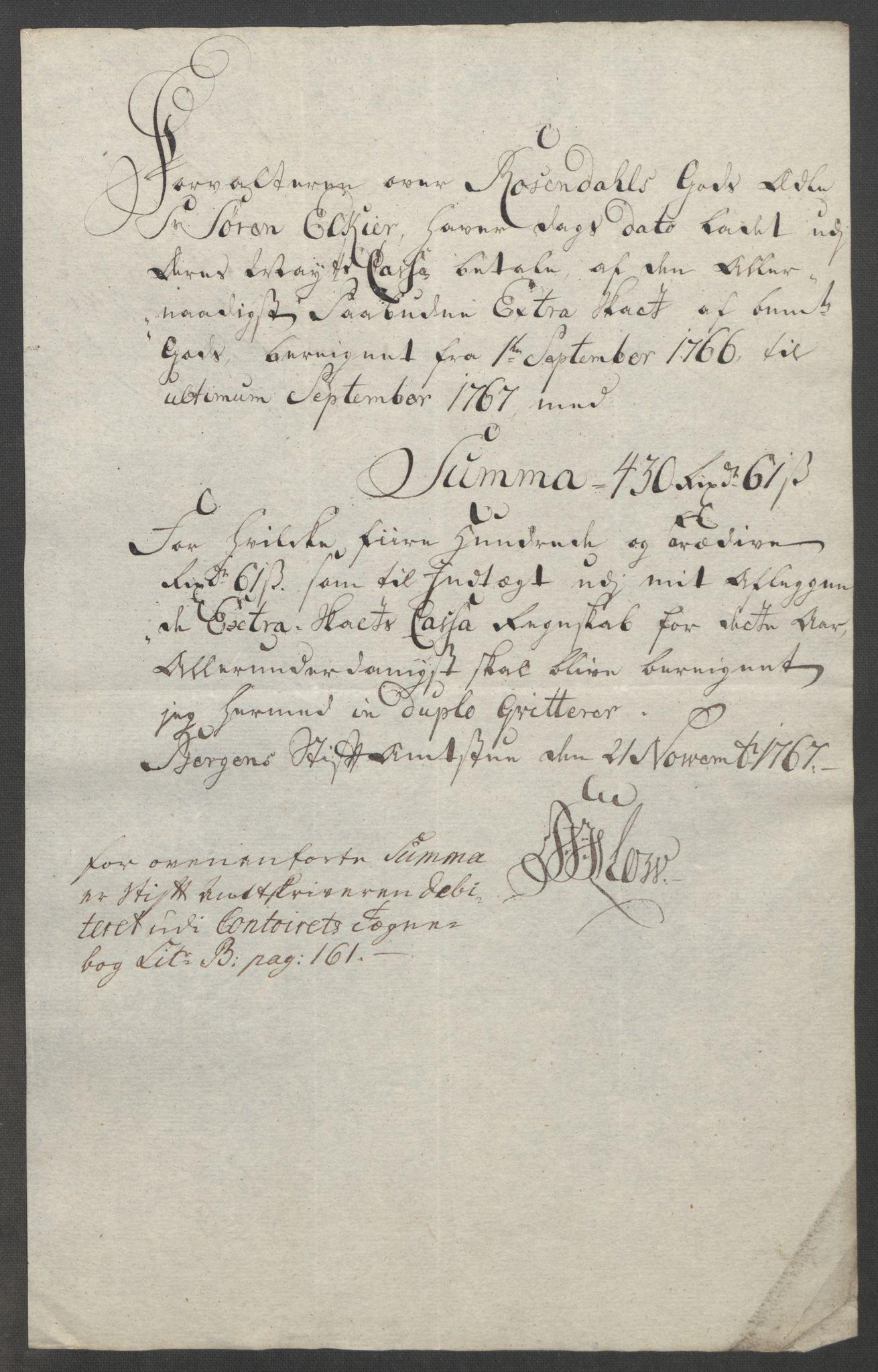 RA, Rentekammeret inntil 1814, Reviderte regnskaper, Fogderegnskap, R49/L3157: Ekstraskatten Rosendal Baroni, 1762-1772, s. 194