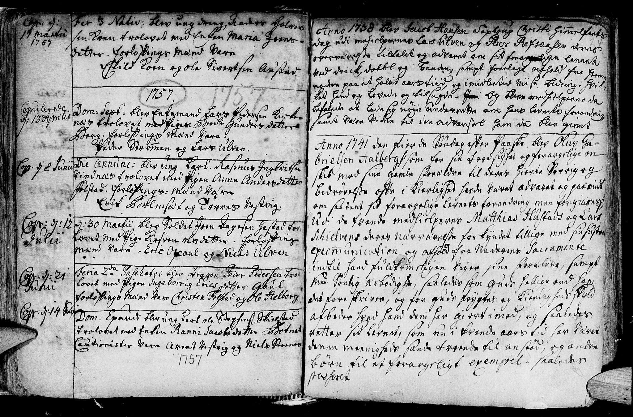 SAT, Ministerialprotokoller, klokkerbøker og fødselsregistre - Nord-Trøndelag, 730/L0272: Ministerialbok nr. 730A01, 1733-1764, s. 24