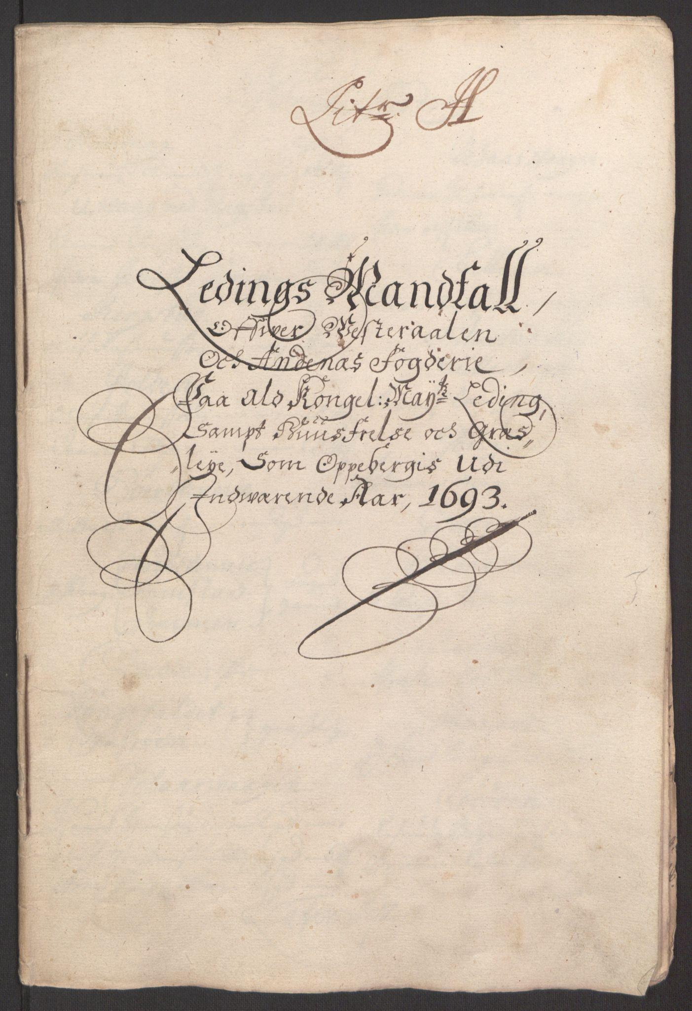 RA, Rentekammeret inntil 1814, Reviderte regnskaper, Fogderegnskap, R67/L4676: Fogderegnskap Vesterålen, Andenes og Lofoten, 1691-1693, s. 301