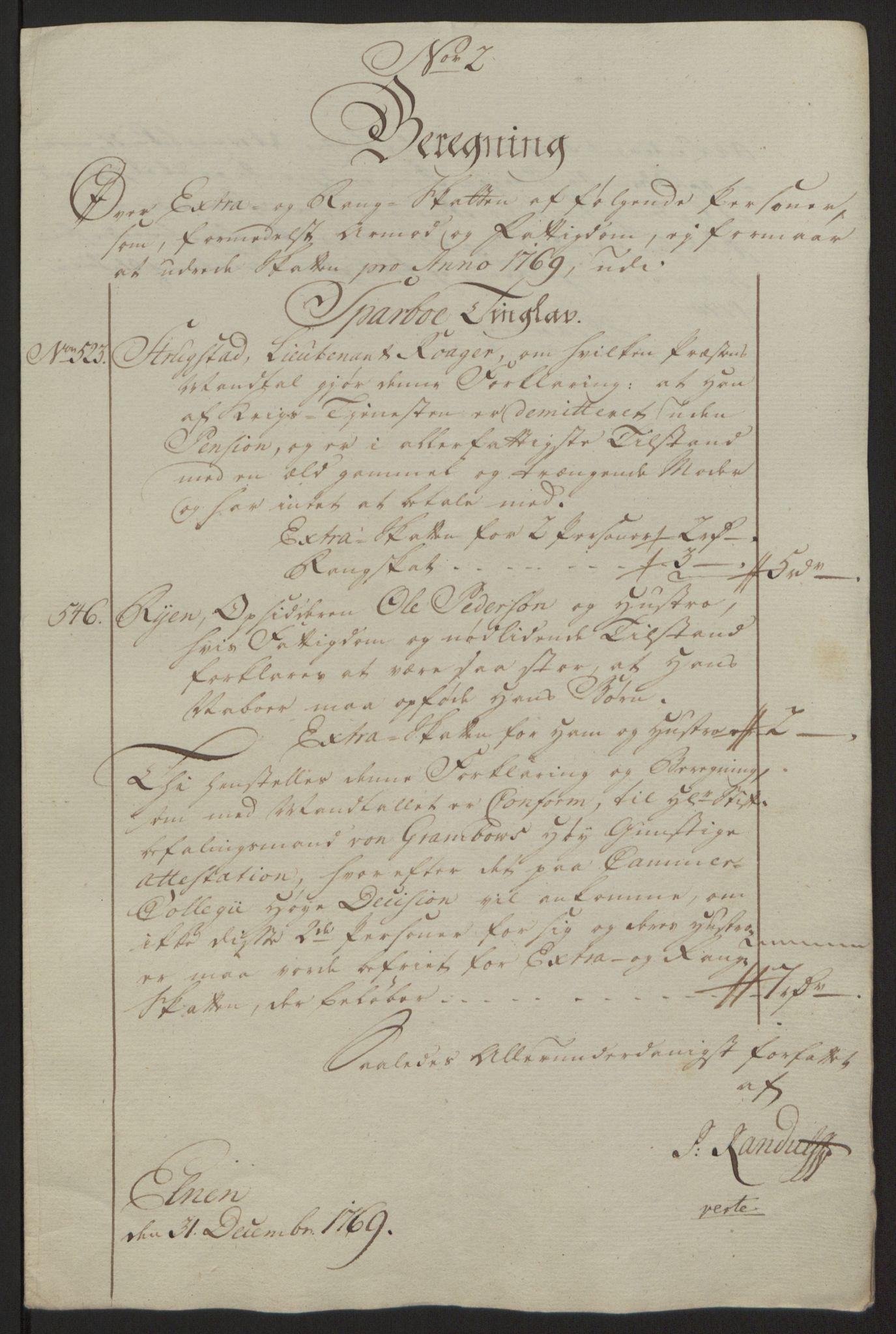 RA, Rentekammeret inntil 1814, Reviderte regnskaper, Fogderegnskap, R63/L4420: Ekstraskatten Inderøy, 1762-1772, s. 358