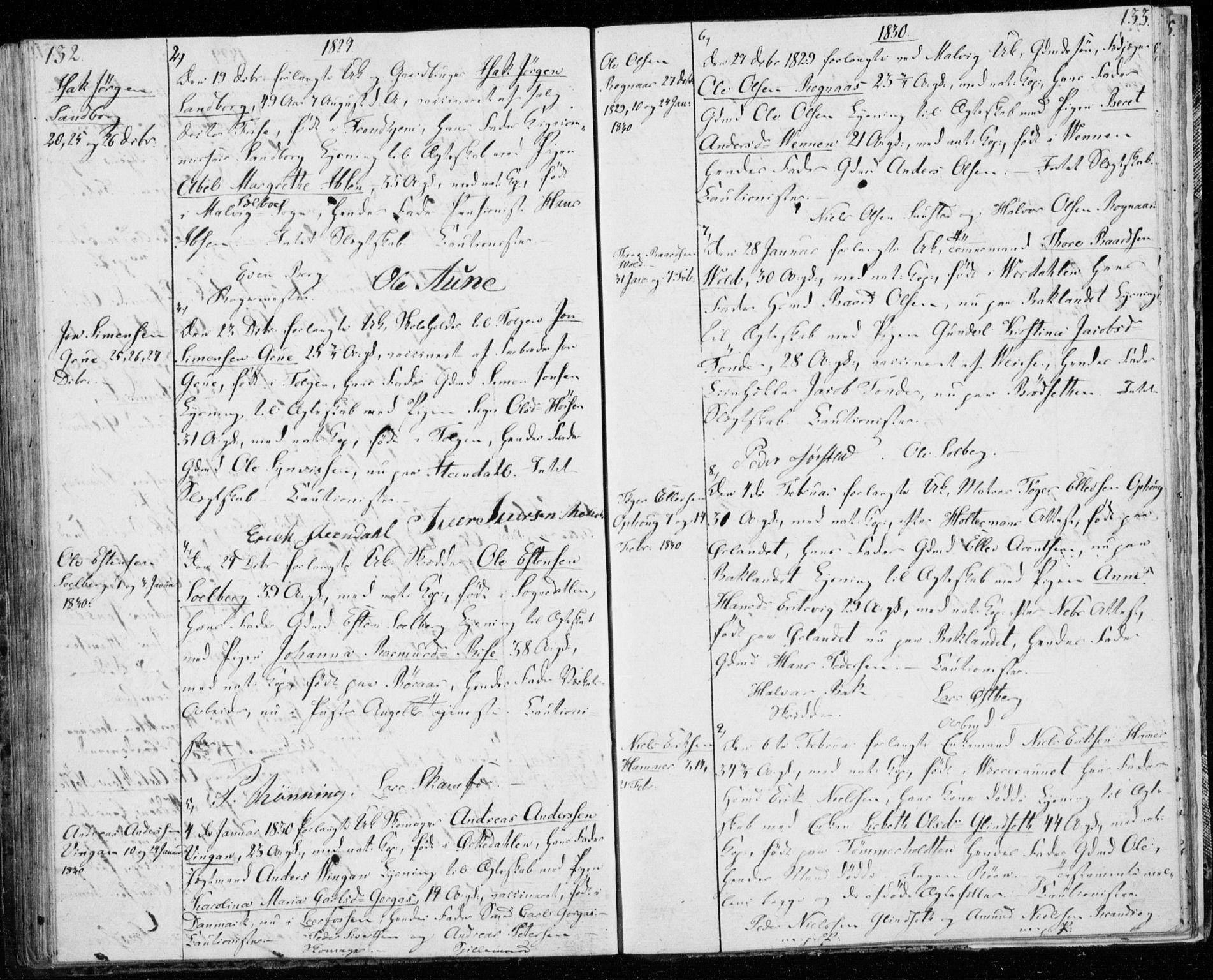 SAT, Ministerialprotokoller, klokkerbøker og fødselsregistre - Sør-Trøndelag, 606/L0295: Lysningsprotokoll nr. 606A10, 1815-1833, s. 132-133