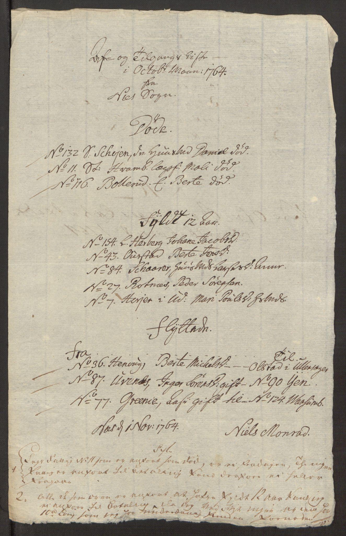 RA, Rentekammeret inntil 1814, Reviderte regnskaper, Fogderegnskap, R12/L0803: Ekstraskatten Øvre Romerike, 1763-1764, s. 324