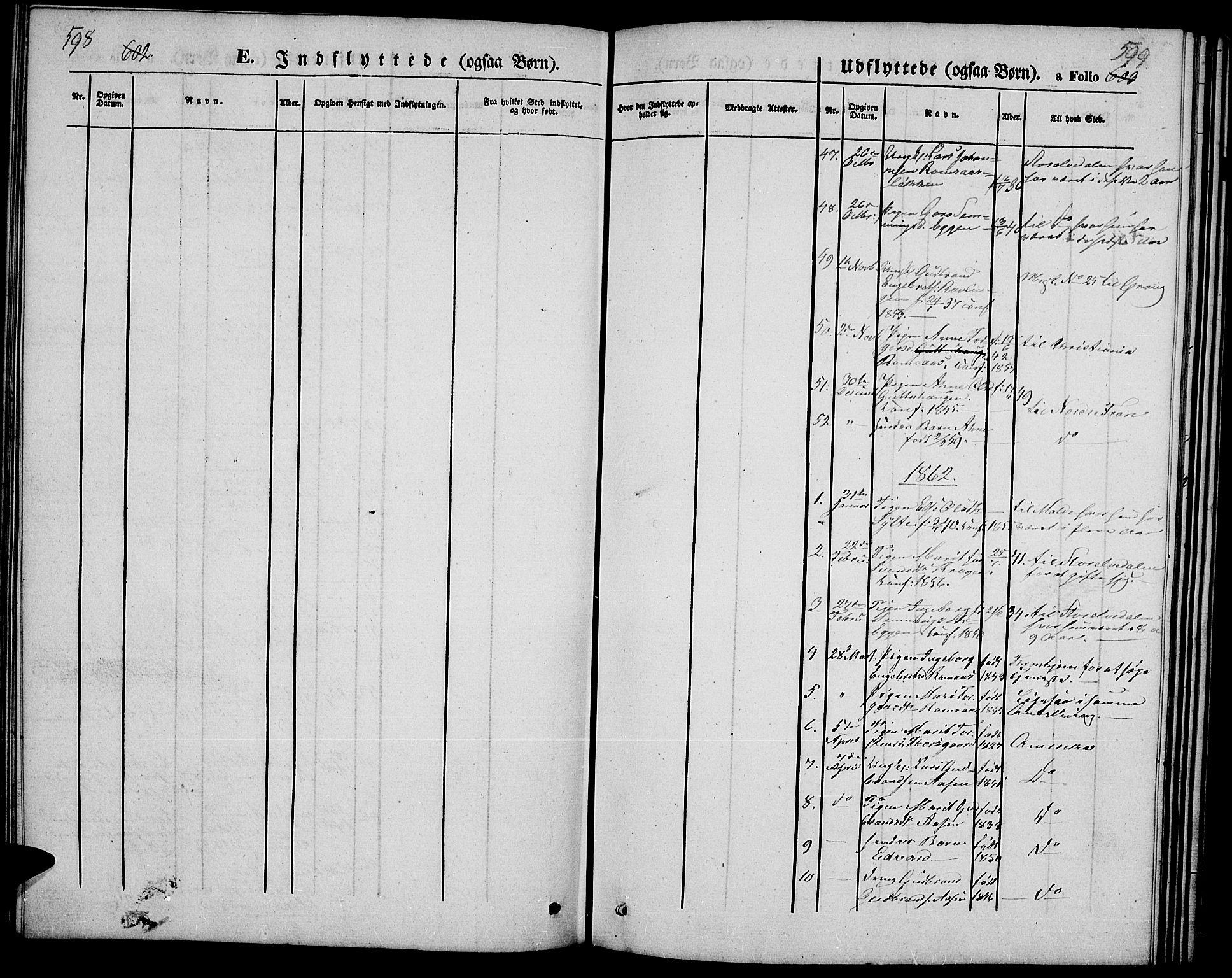 SAH, Ringebu prestekontor, Klokkerbok nr. 3, 1854-1866, s. 598-599