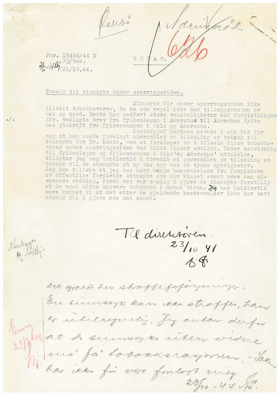 RA, Forsyningsdepartementet, 1. Rasjoneringskontor/Rasjoneringskontoret D, D/L0406: Sakarkiv: 623-626, 1940-1945, s. 1