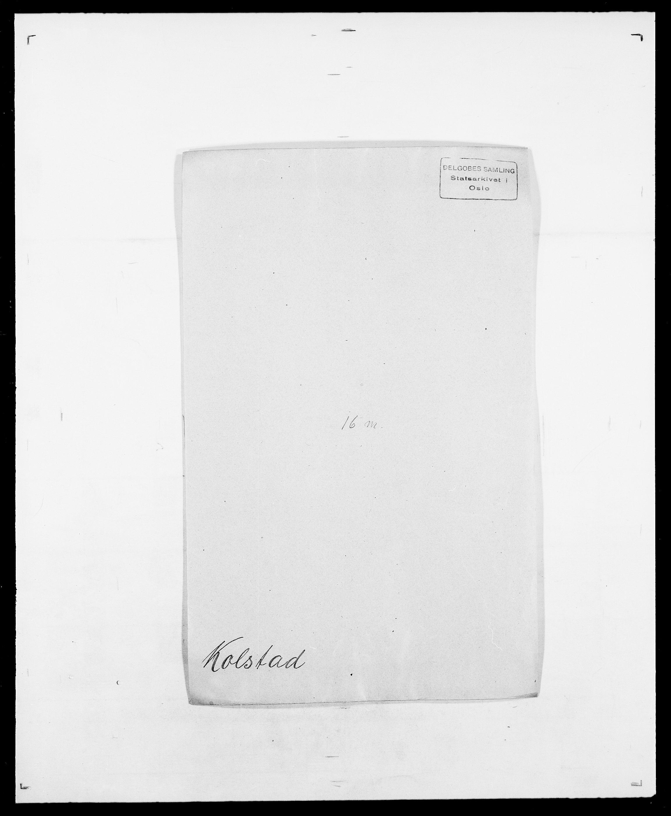 SAO, Delgobe, Charles Antoine - samling, D/Da/L0021: Klagenberg - Kristoft, s. 507