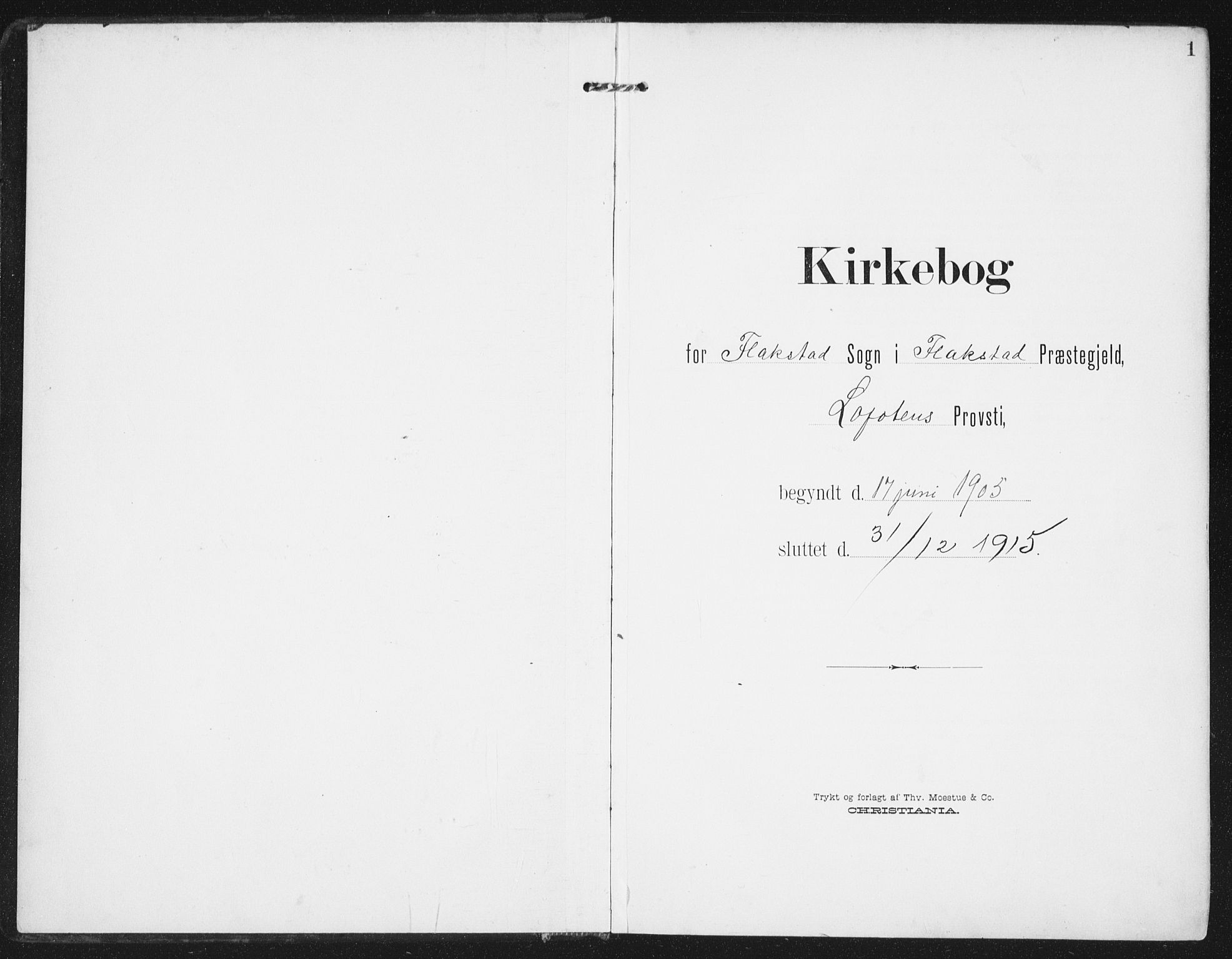 SAT, Ministerialprotokoller, klokkerbøker og fødselsregistre - Nordland, 885/L1206: Ministerialbok nr. 885A07, 1905-1915, s. 1