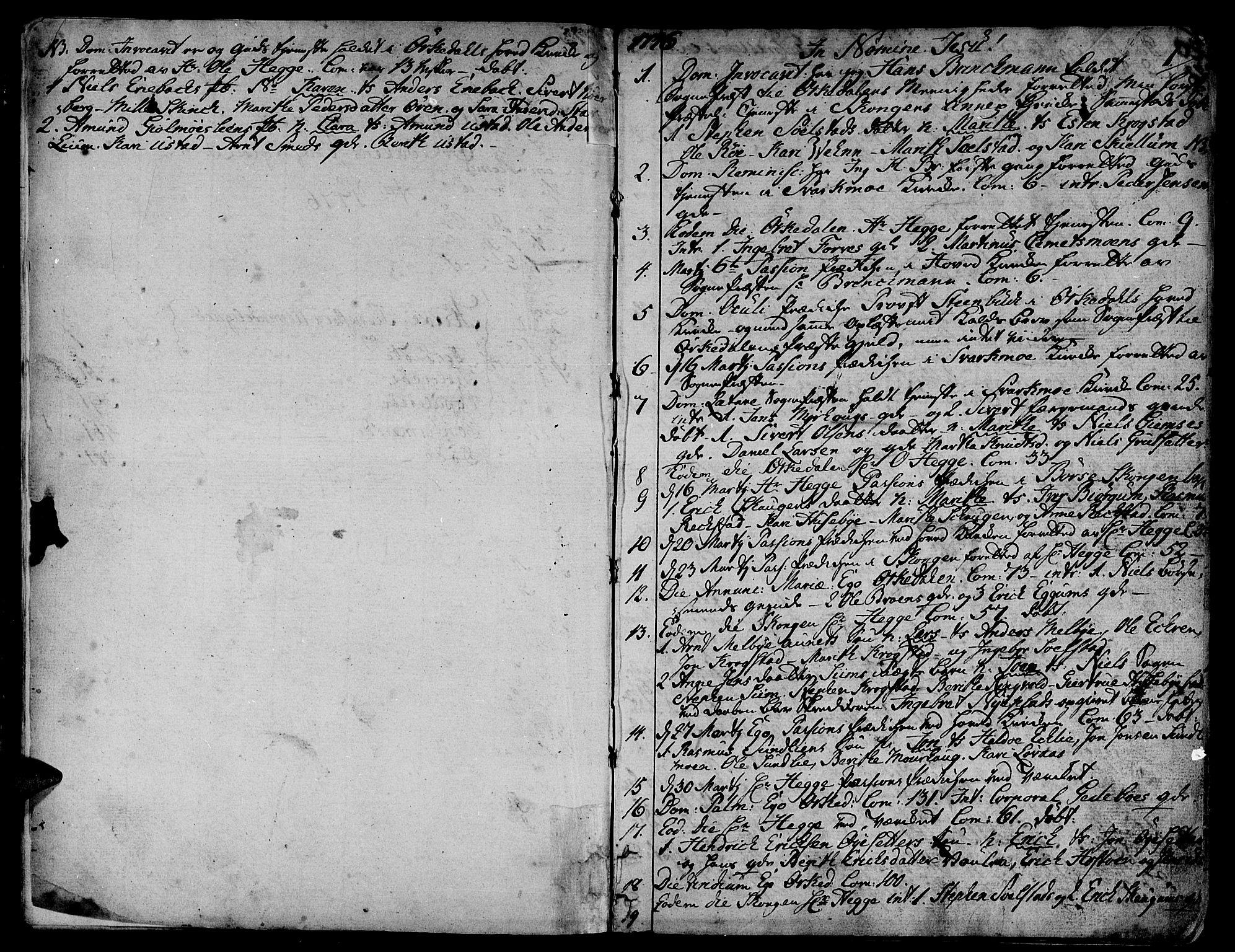 SAT, Ministerialprotokoller, klokkerbøker og fødselsregistre - Sør-Trøndelag, 668/L0802: Ministerialbok nr. 668A02, 1776-1799, s. 0-1