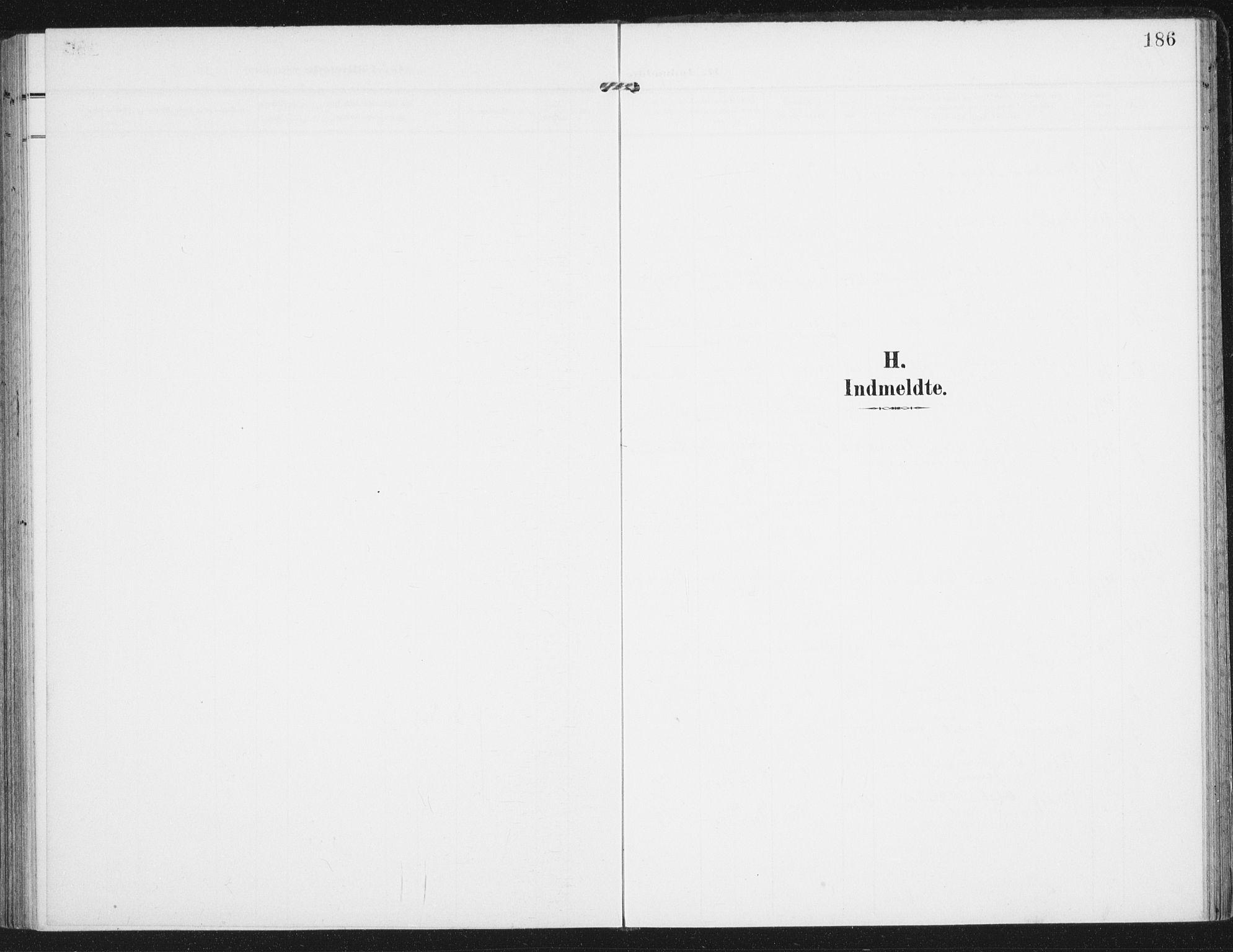 SAT, Ministerialprotokoller, klokkerbøker og fødselsregistre - Nordland, 885/L1206: Ministerialbok nr. 885A07, 1905-1915, s. 186