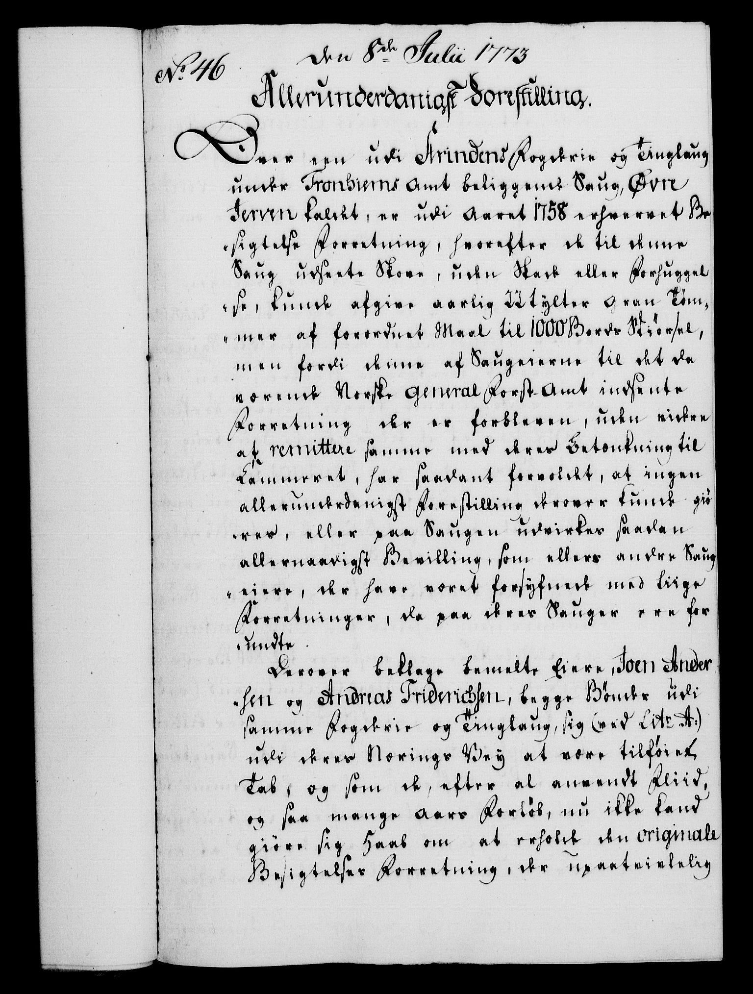 RA, Rentekammeret, Kammerkanselliet, G/Gf/Gfa/L0055: Norsk relasjons- og resolusjonsprotokoll (merket RK 52.55), 1773, s. 179