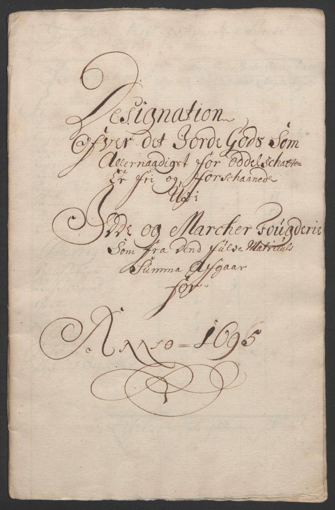 RA, Rentekammeret inntil 1814, Reviderte regnskaper, Fogderegnskap, R01/L0012: Fogderegnskap Idd og Marker, 1694-1695, s. 265