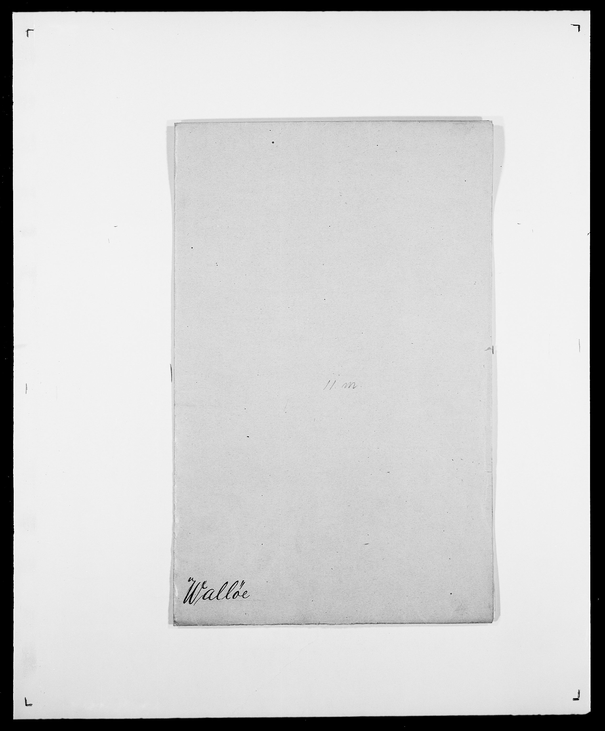 SAO, Delgobe, Charles Antoine - samling, D/Da/L0040: Usgaard - Velund, s. 188
