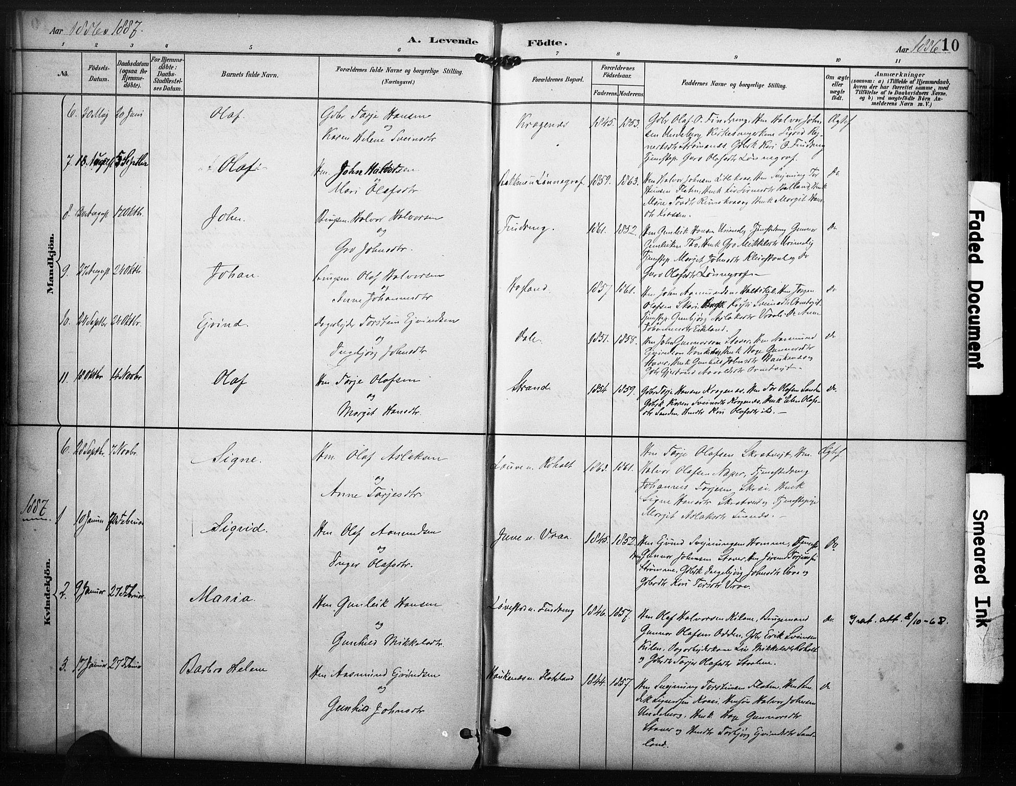 SAKO, Kviteseid kirkebøker, F/Fc/L0002: Ministerialbok nr. III 2, 1882-1908, s. 10