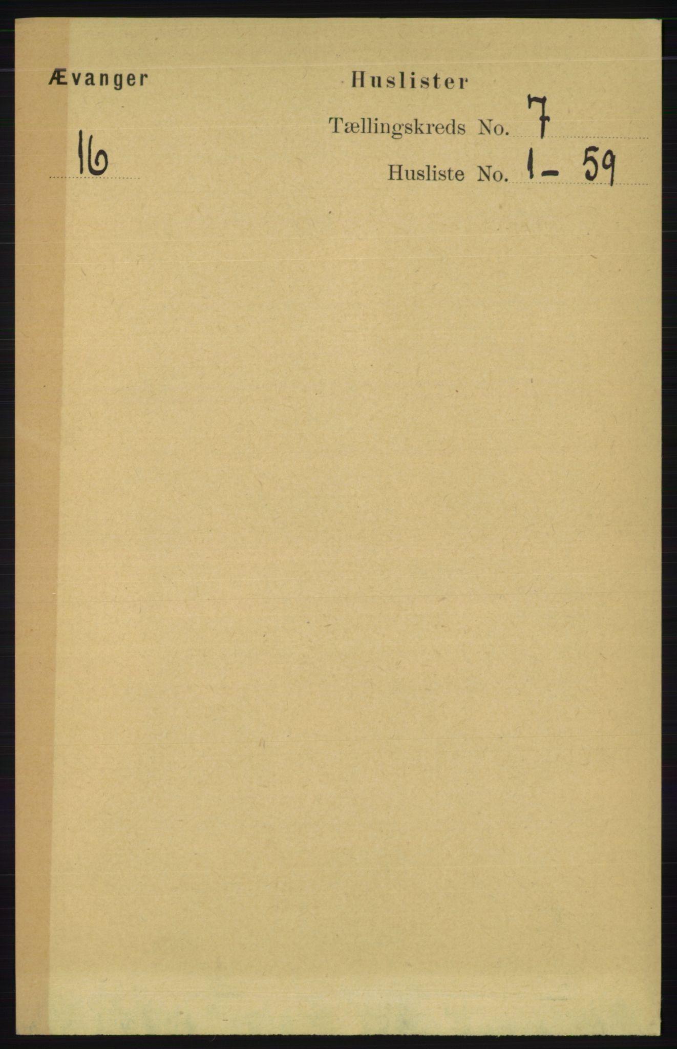 RA, Folketelling 1891 for 1237 Evanger herred, 1891, s. 1810