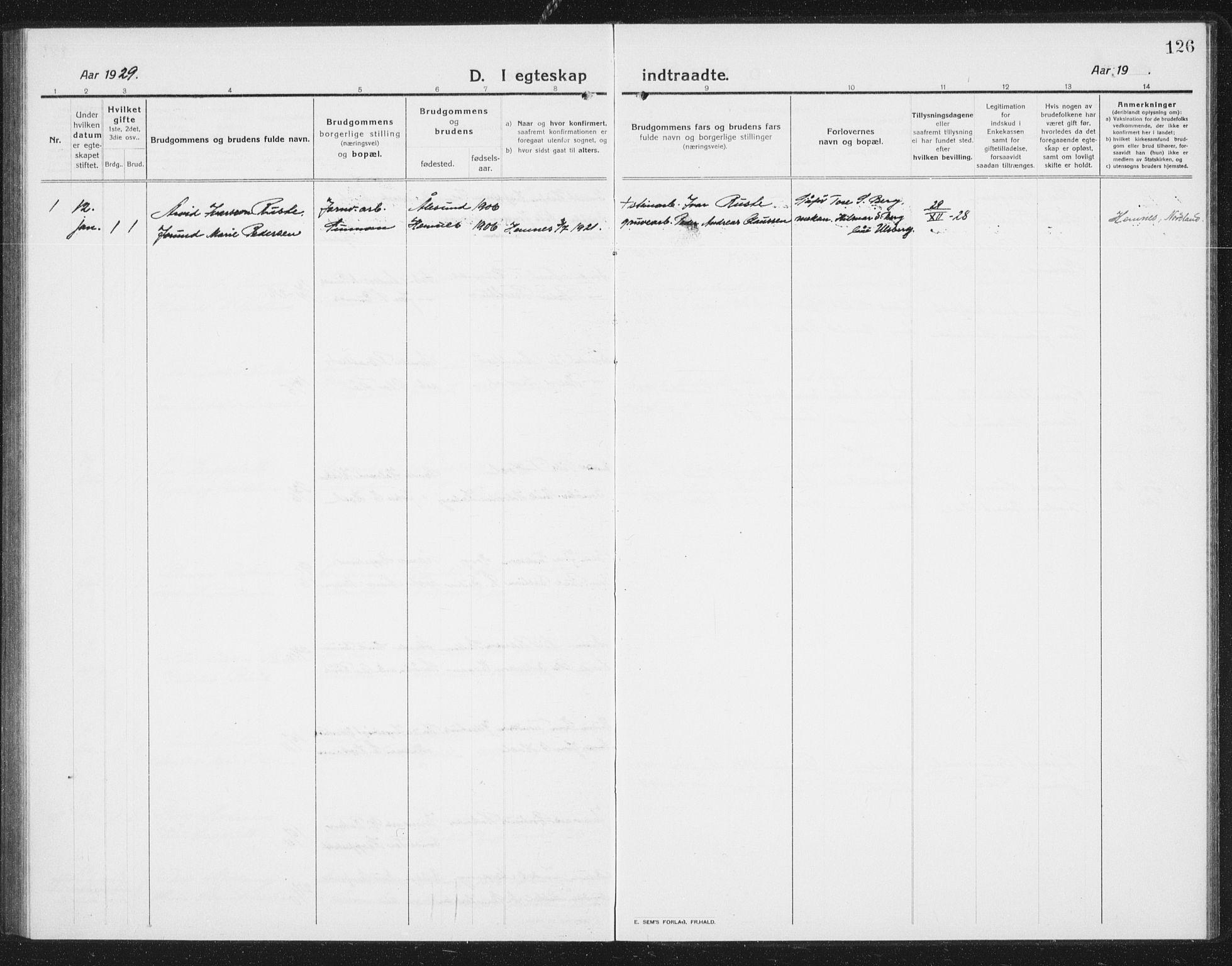 SAT, Ministerialprotokoller, klokkerbøker og fødselsregistre - Sør-Trøndelag, 675/L0888: Klokkerbok nr. 675C01, 1913-1935, s. 126