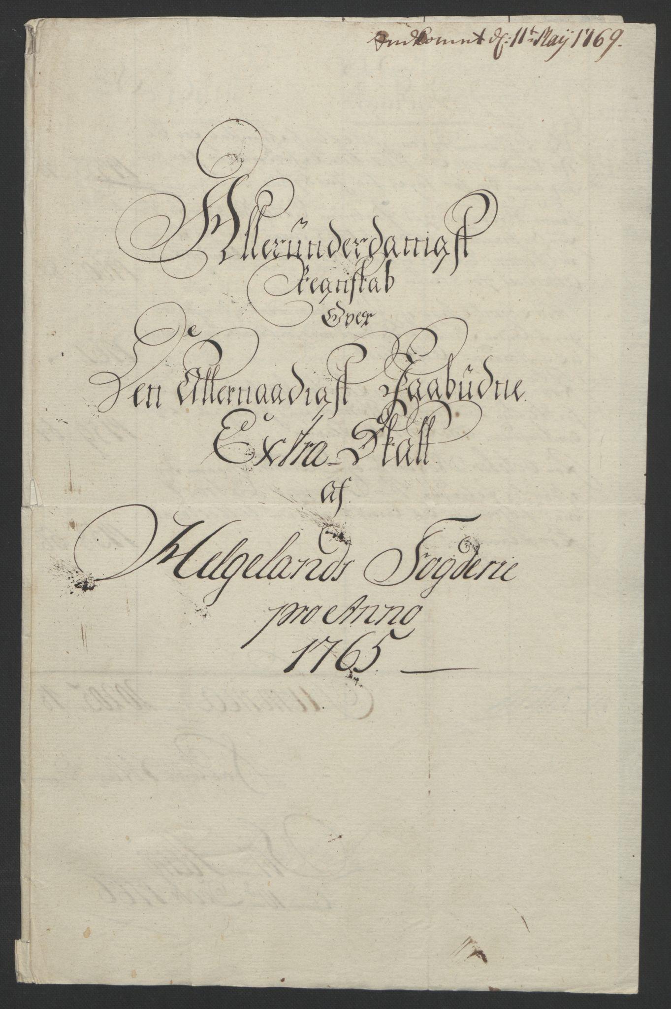 RA, Rentekammeret inntil 1814, Reviderte regnskaper, Fogderegnskap, R65/L4573: Ekstraskatten Helgeland, 1762-1772, s. 90