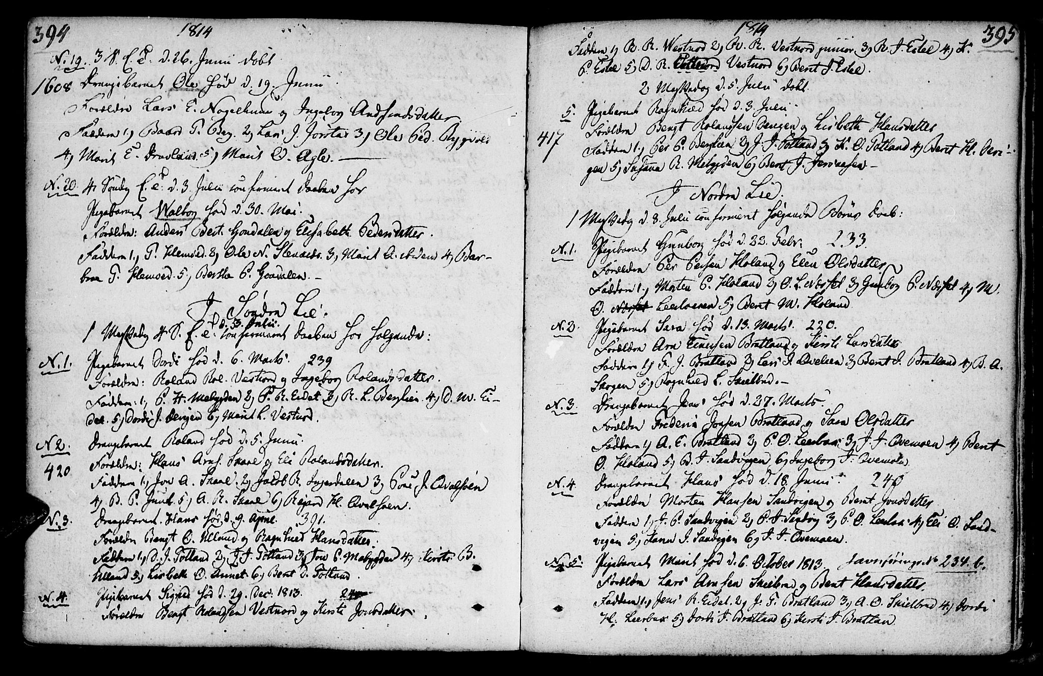 SAT, Ministerialprotokoller, klokkerbøker og fødselsregistre - Nord-Trøndelag, 749/L0468: Ministerialbok nr. 749A02, 1787-1817, s. 394-395
